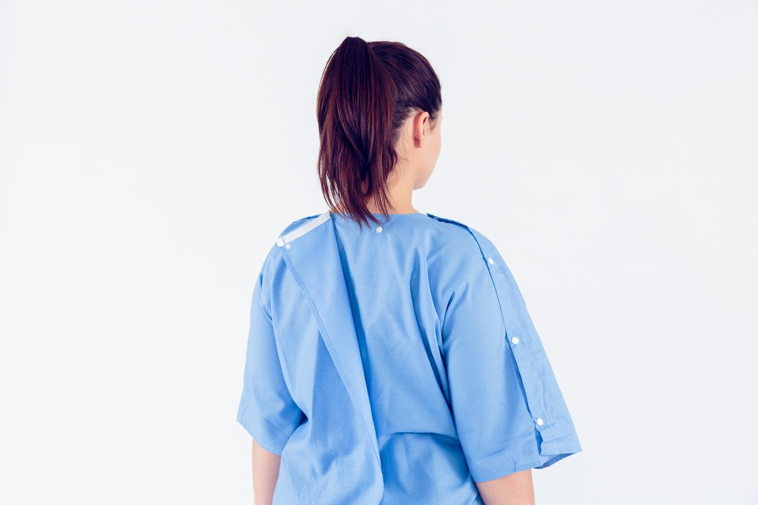 Alumnus Chaitenya Razdan and his Care+Wear company have created a new hospital gown design they believe will provide more privacy and comfort than traditional gowns that tie in the back.