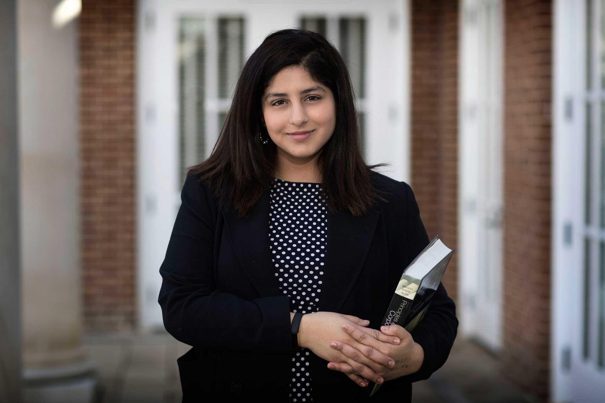 Transfer student Shivani Tara Seth is a third-year student in the McIntire School of Commerce.