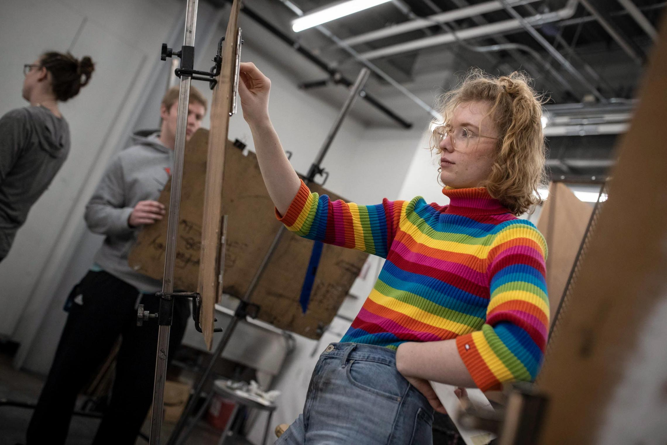 Students like Lyla Ward, who is studying drawing, are using the short January term to pick up new skills.