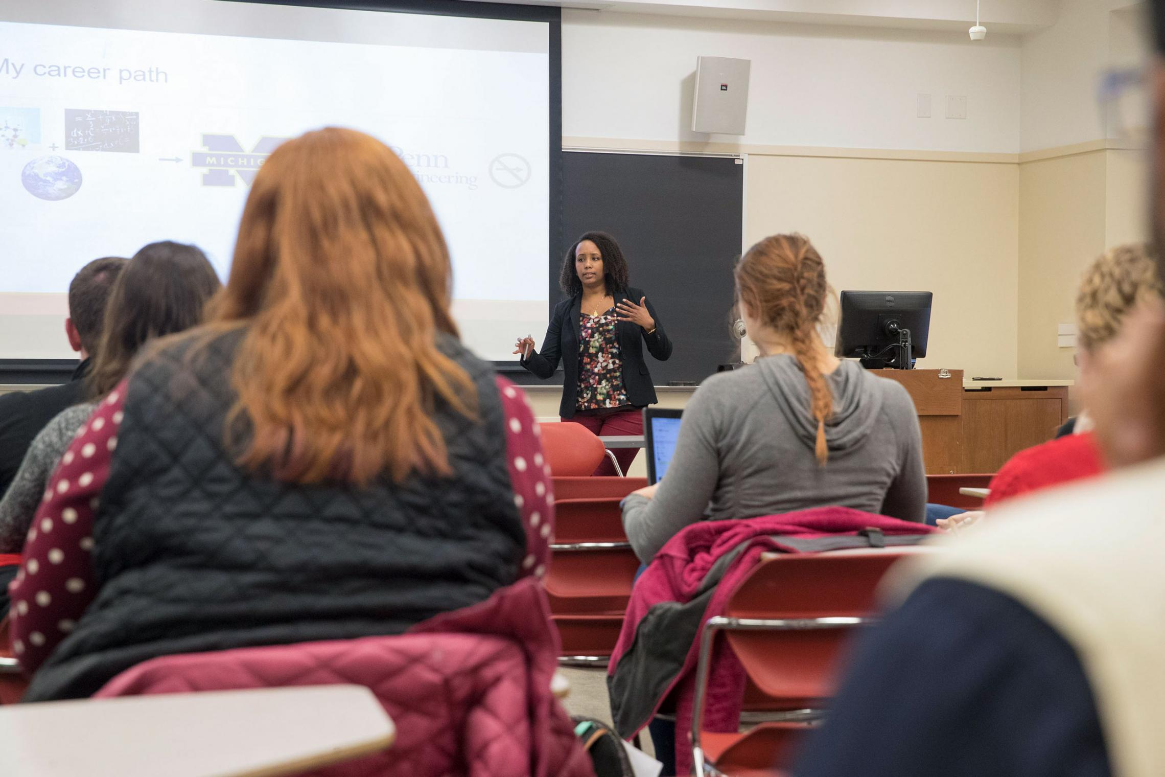 Mahlet Mesfin, deputy director at the Center for Science Diplomacy at AAAS, was a guest lecturer in the J-term class on science policy.