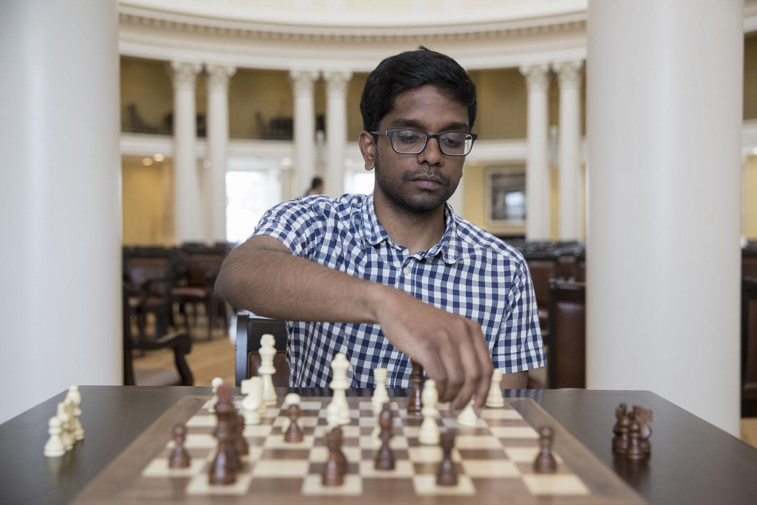 "Ranked as a ""National Master,"" UVA student Jeevan Karamsetty seeks to bring any interested member of the University community into the game of chess."