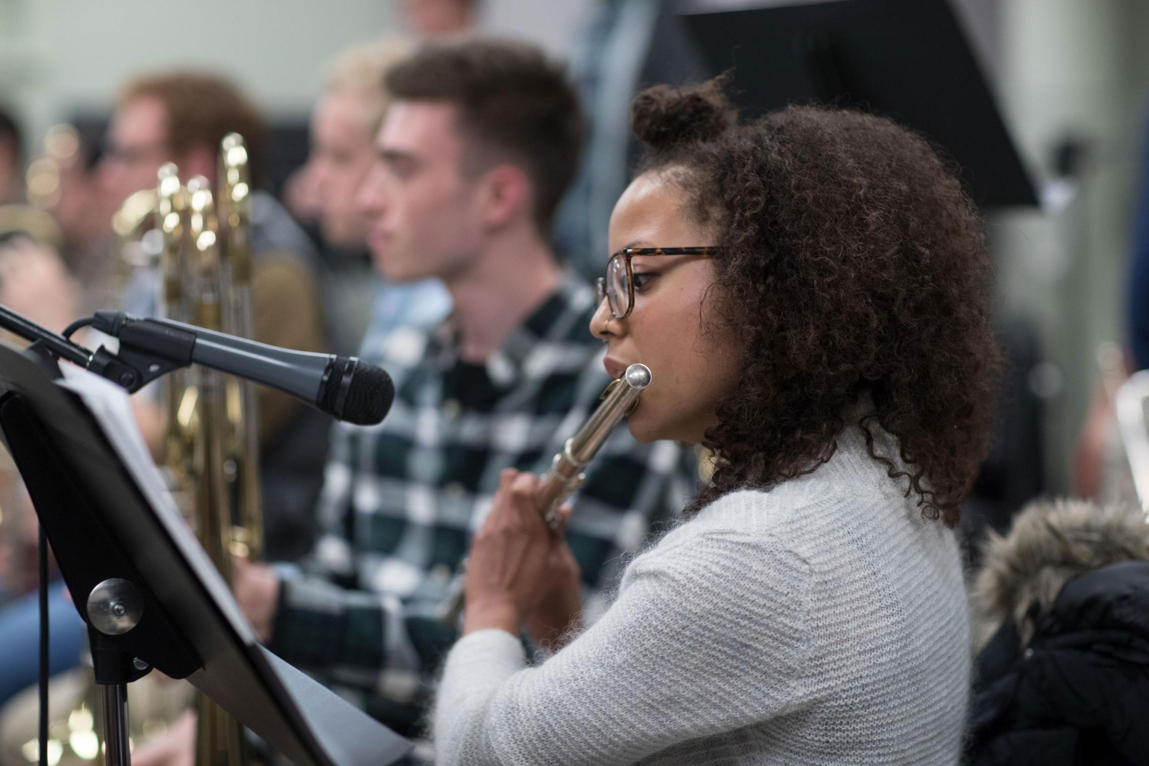 The Jazz Ensemble is among the many student groups that give multiple performances a year, culminating in a flurry of activity at the end of the semester.