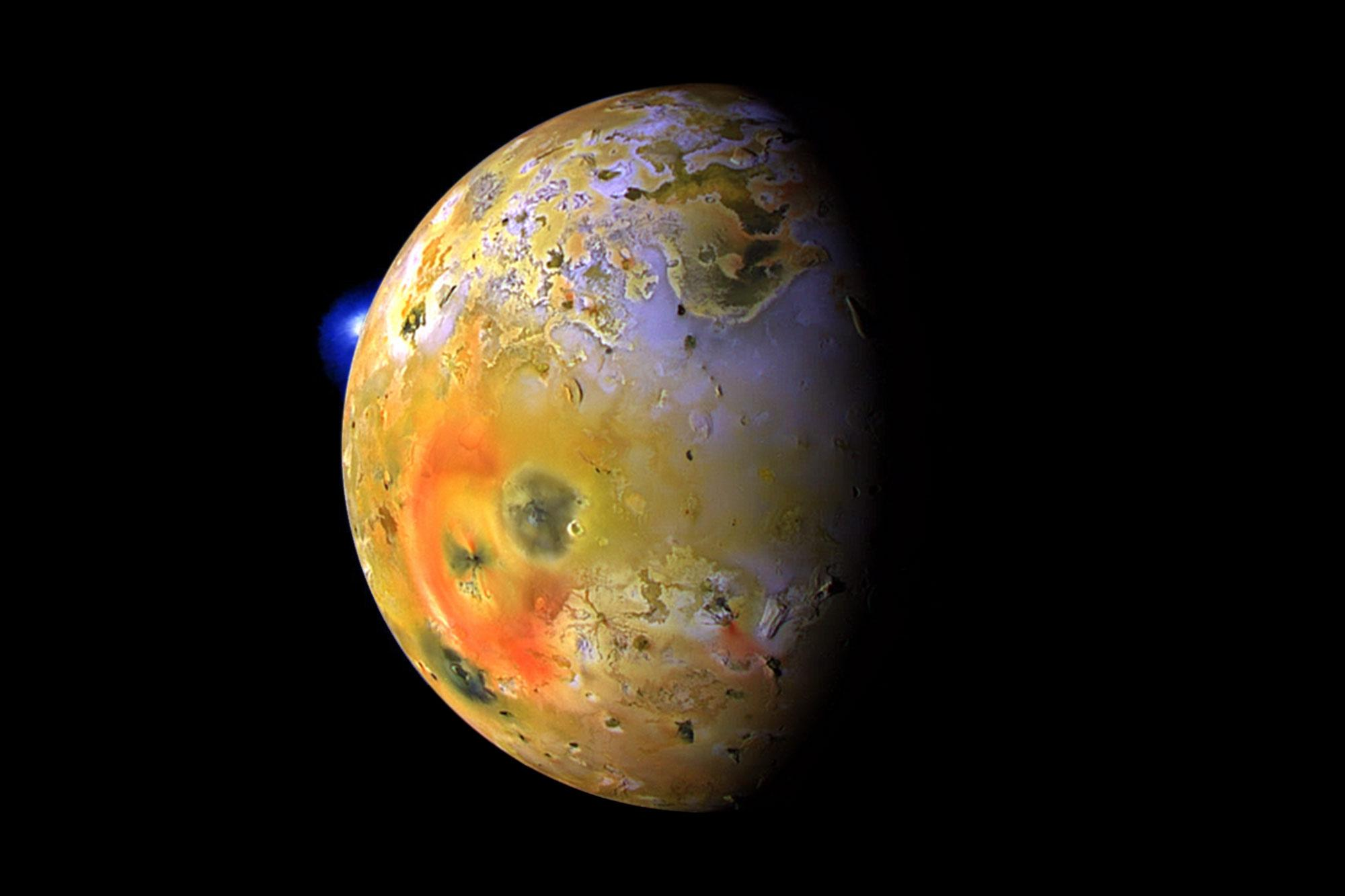 A NASA Voyager 1 image of Io, a moon of Jupiter. (NASA/JPL/USGS Photo)