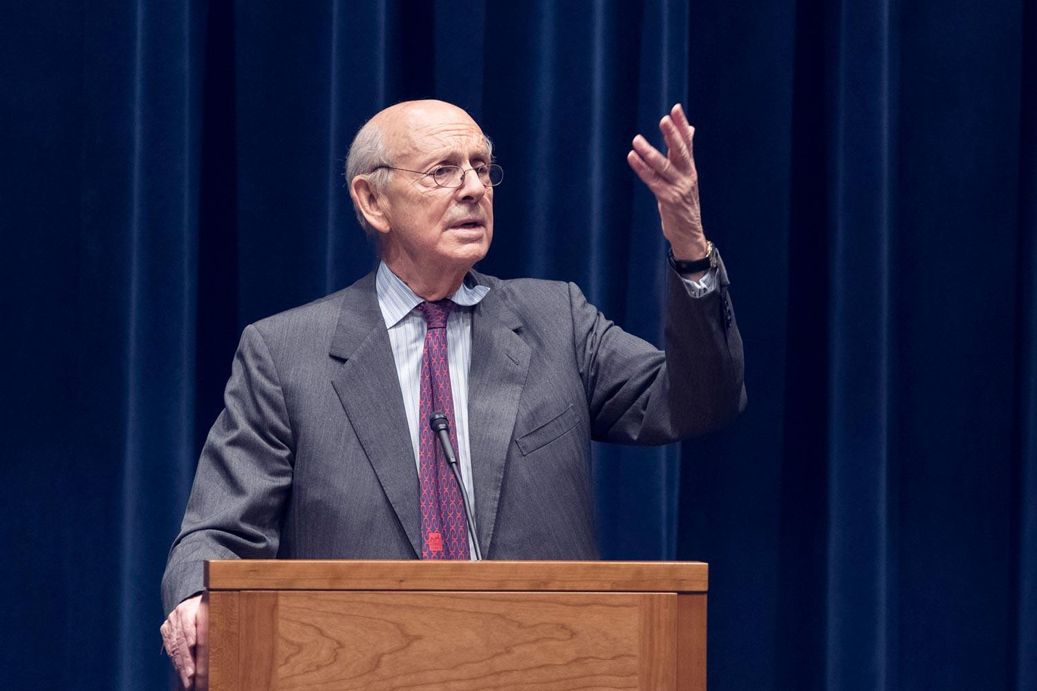 Supreme Court Justice Stephen Breyer gave a candid talk to UVA law students Thursday about how he perceives the judiciary's role.