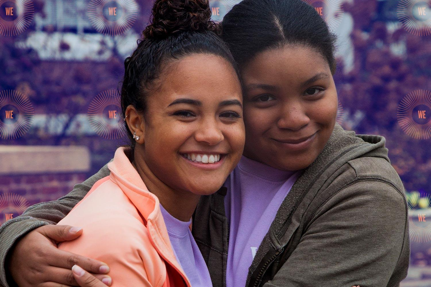 Kayla Coleman, left, was Silvana Braxton's mentor in 2016. Braxton was a student at Buford Middle School.