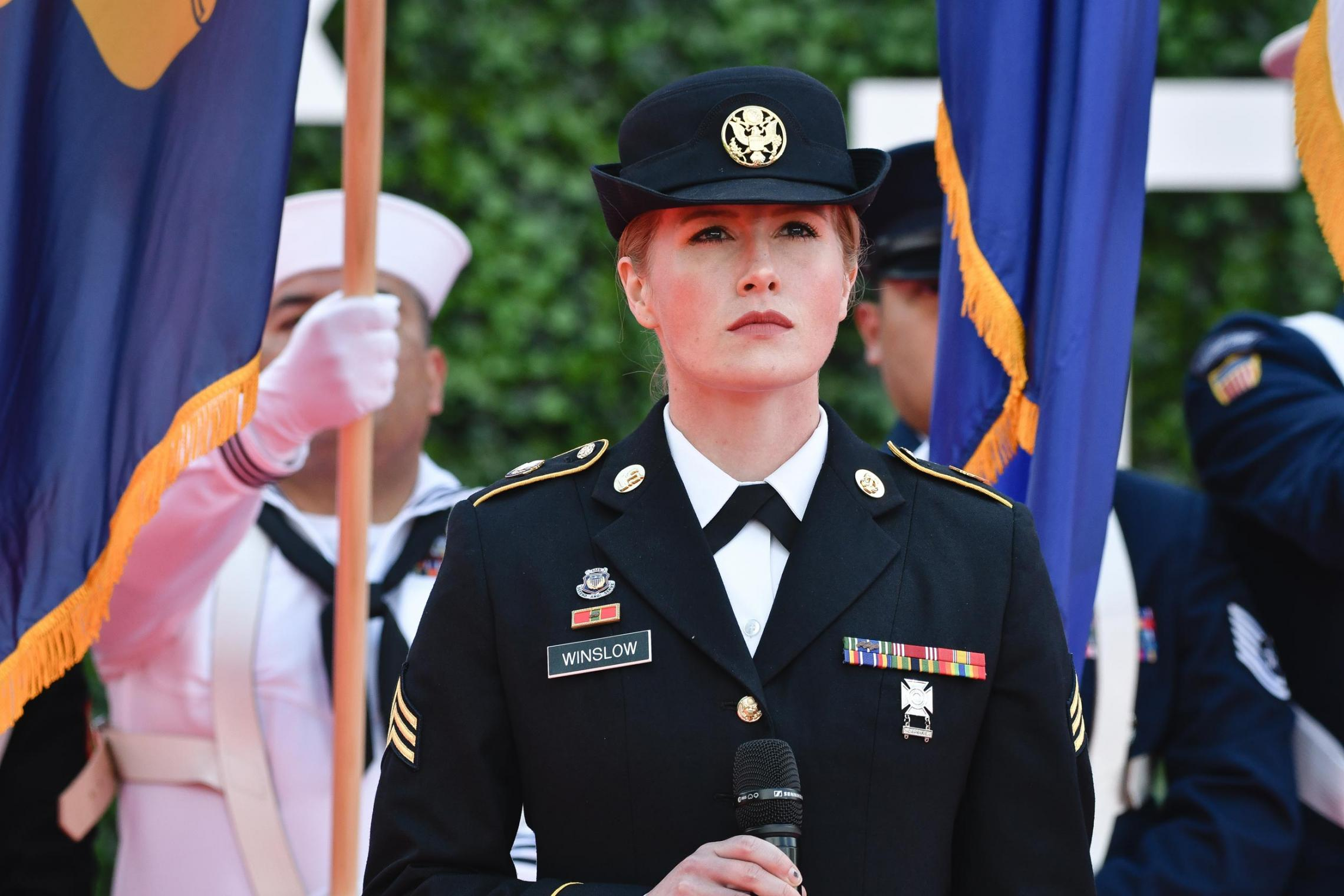 Kayla Winslow joined the Army in 2015, serving with Army bands in Colorado and now in Germany. (Photo: Sgt. Henry Villarama, U.S. Army)