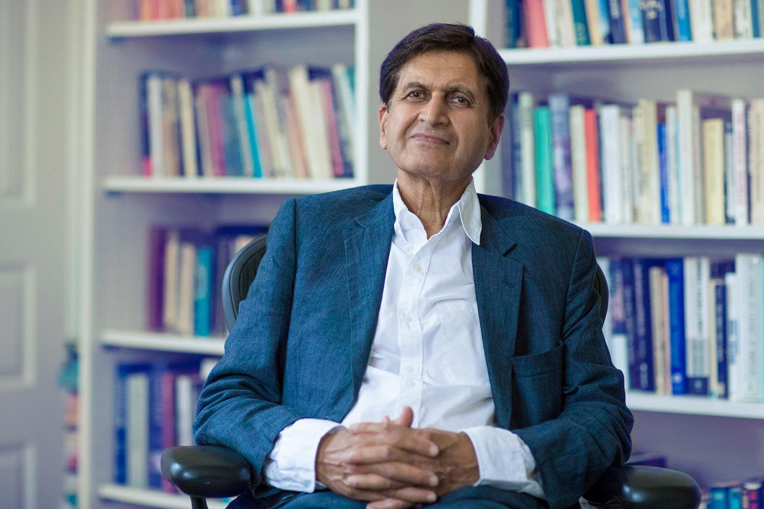 Krishan Kumar, University Professor and William R. Kenan Jr. Professor of Sociology, taught at the University of Kent in England for 20 years before coming to UVA in 1996. (Photo by Dan Addison, University Communications)