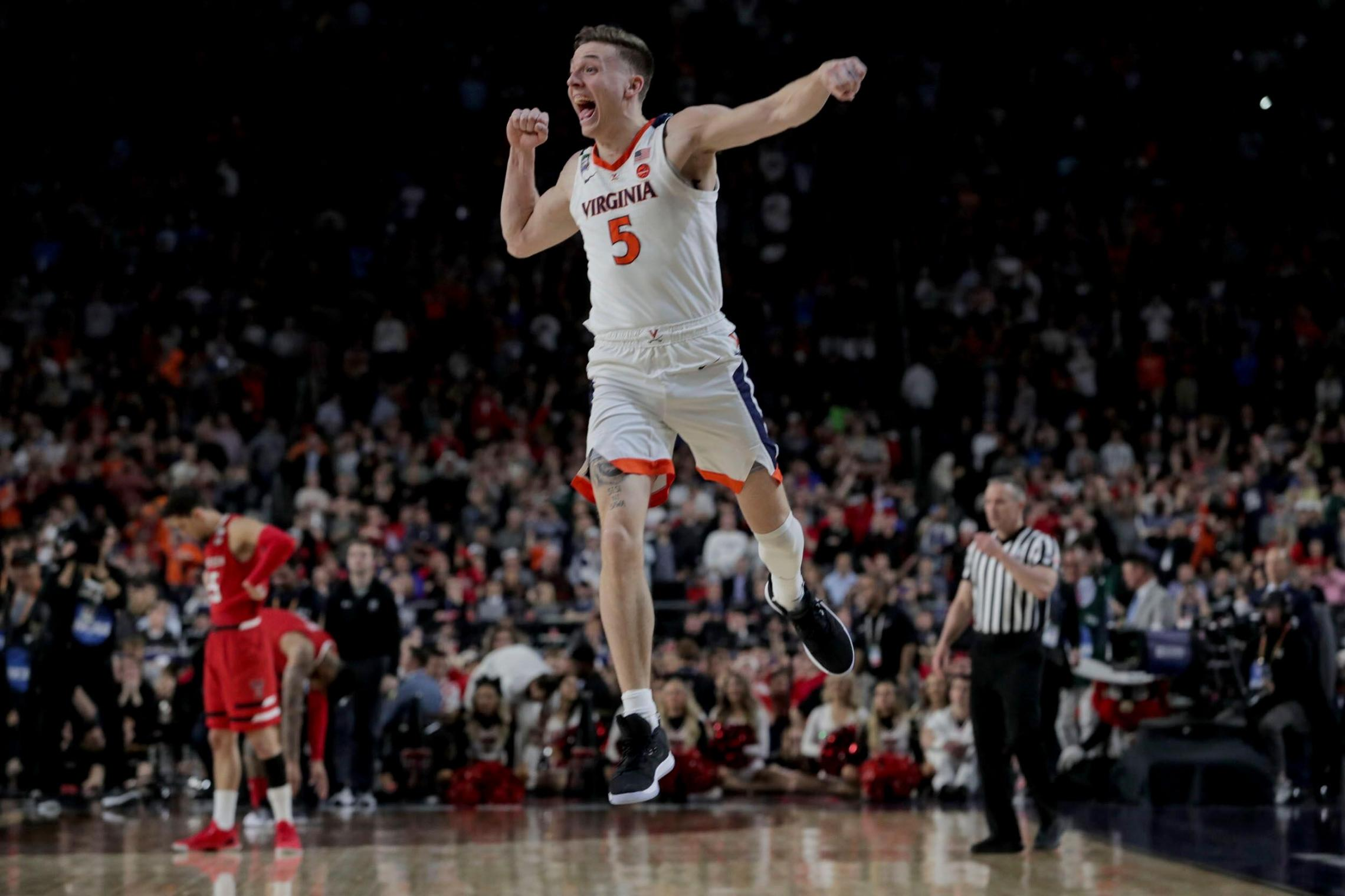 Guy, now with the Sacramento Kings, played a huge role in the Hoos' NCAA Tournament championship and made the three free throws that sent the Hoos to the final game.