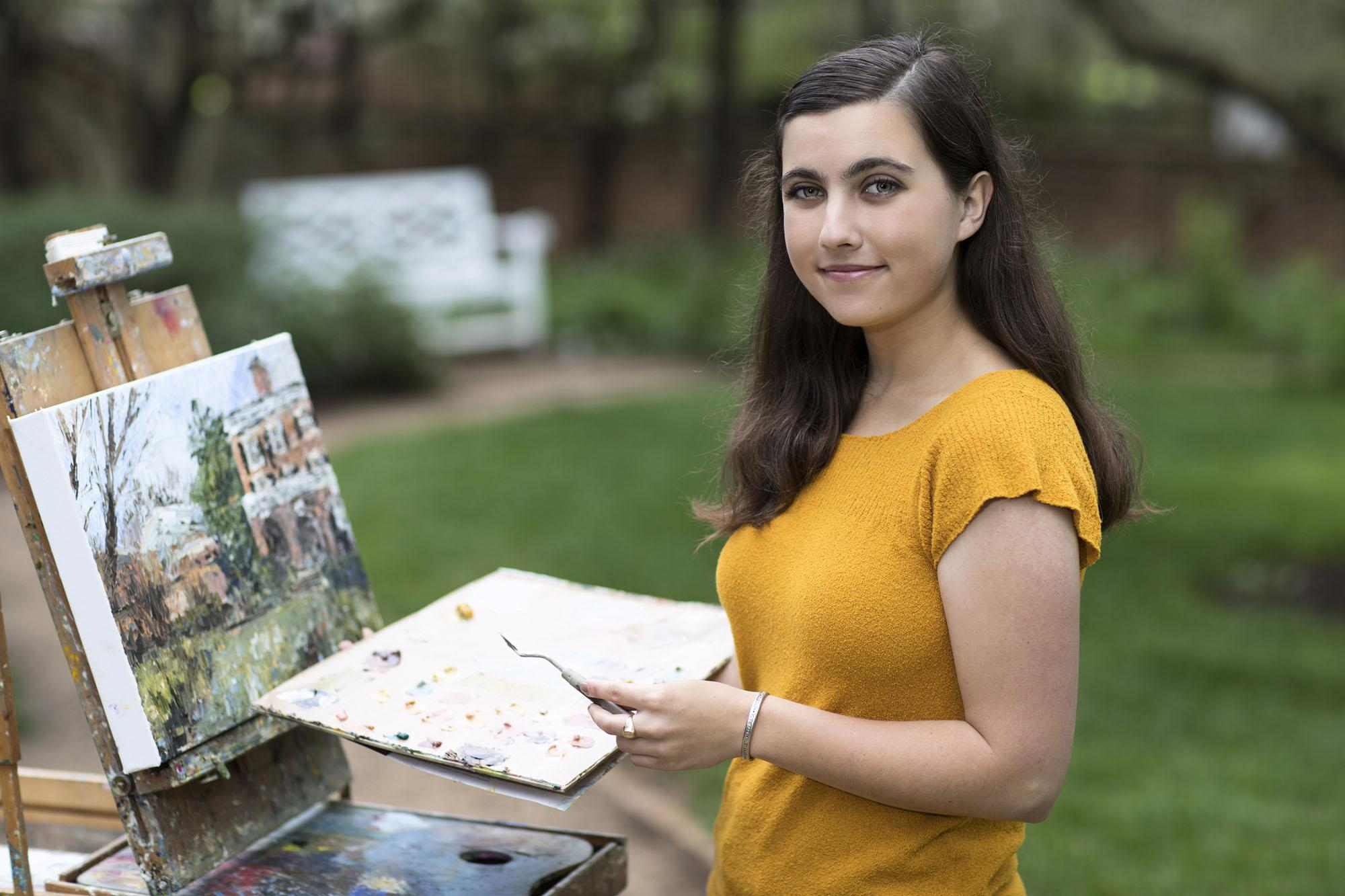 Art history and English major Lauchlan Davis took a gap year to hike the Appalachian Trail and deepened her love for painting.
