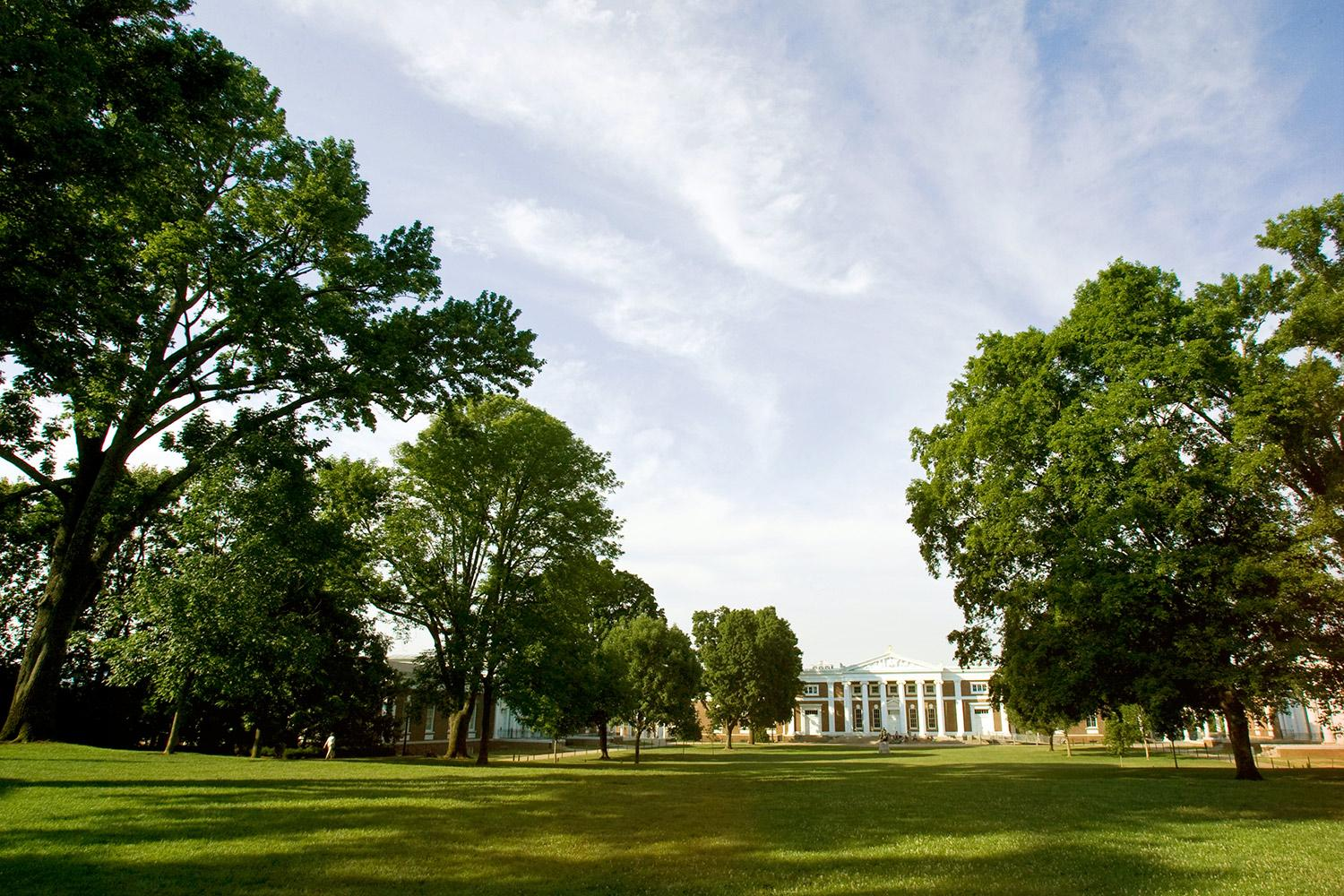 UVA's Lawn (Photo by Jane Haley)