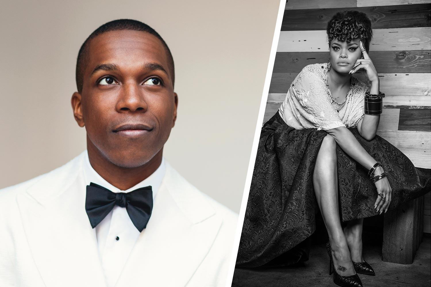 Leslie Odom Jr., left, and Andra Day will perform at the Oct. 6 event on the Lawn.