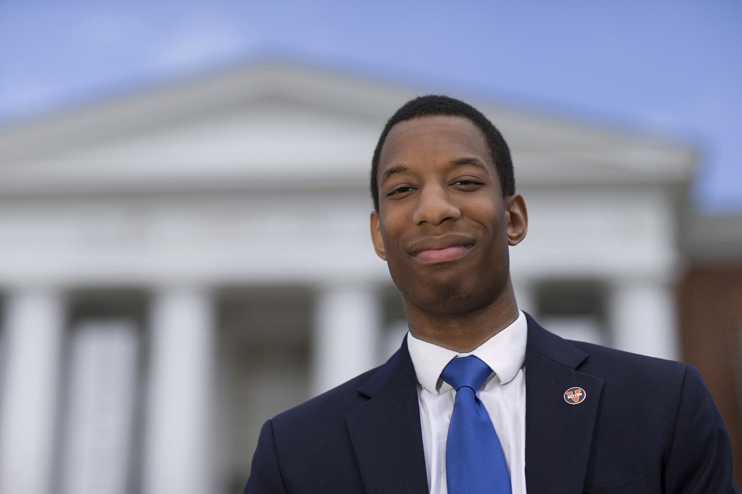 C. Malcolm Stewart of Midlothian will have his tuition and fees covered as he serves as senior resident adviser on the Lawn during the 2017-18 academic year. (UVA Alumni Association photo)
