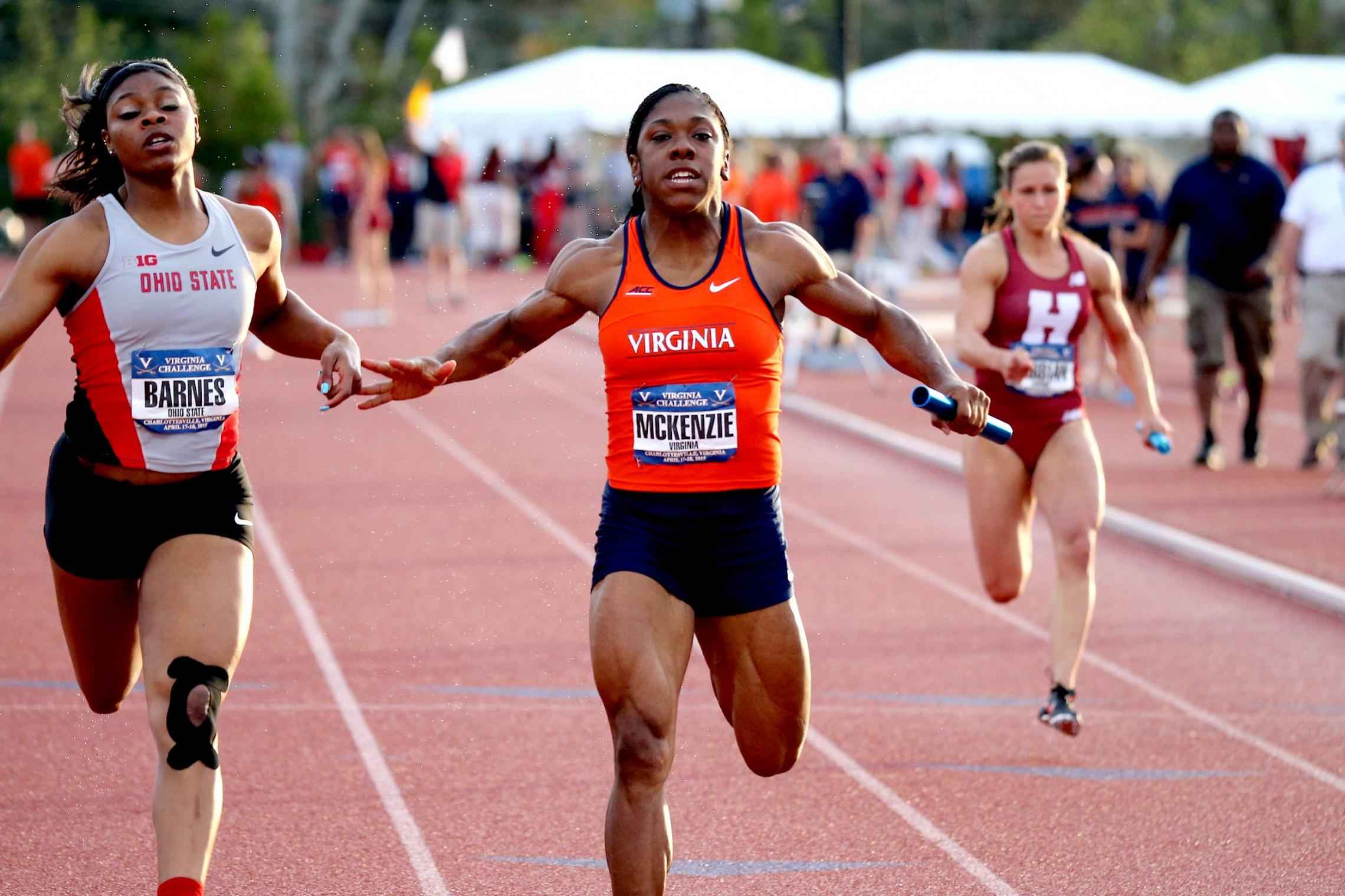 UVA sprinter Tori McKenzie was born with a rare medical condition characterized by an extremely muscular appearance and an almost total lack of body fat.