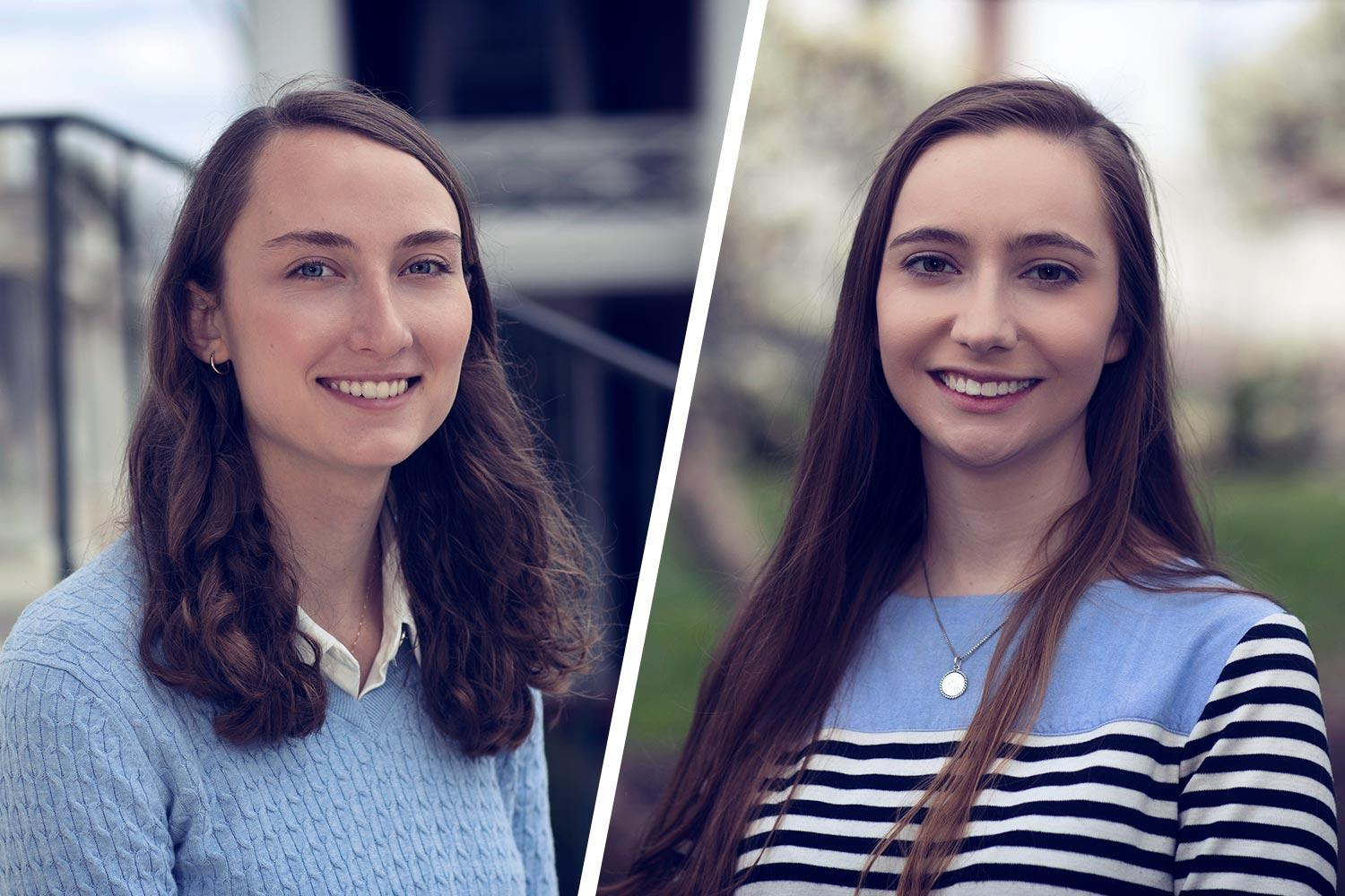 As Beckman Scholars, third-year students Melanie Piller, left, and Monika Grabowska each will receive $21,000 in stipend and travel expenses for two summers and one academic year.