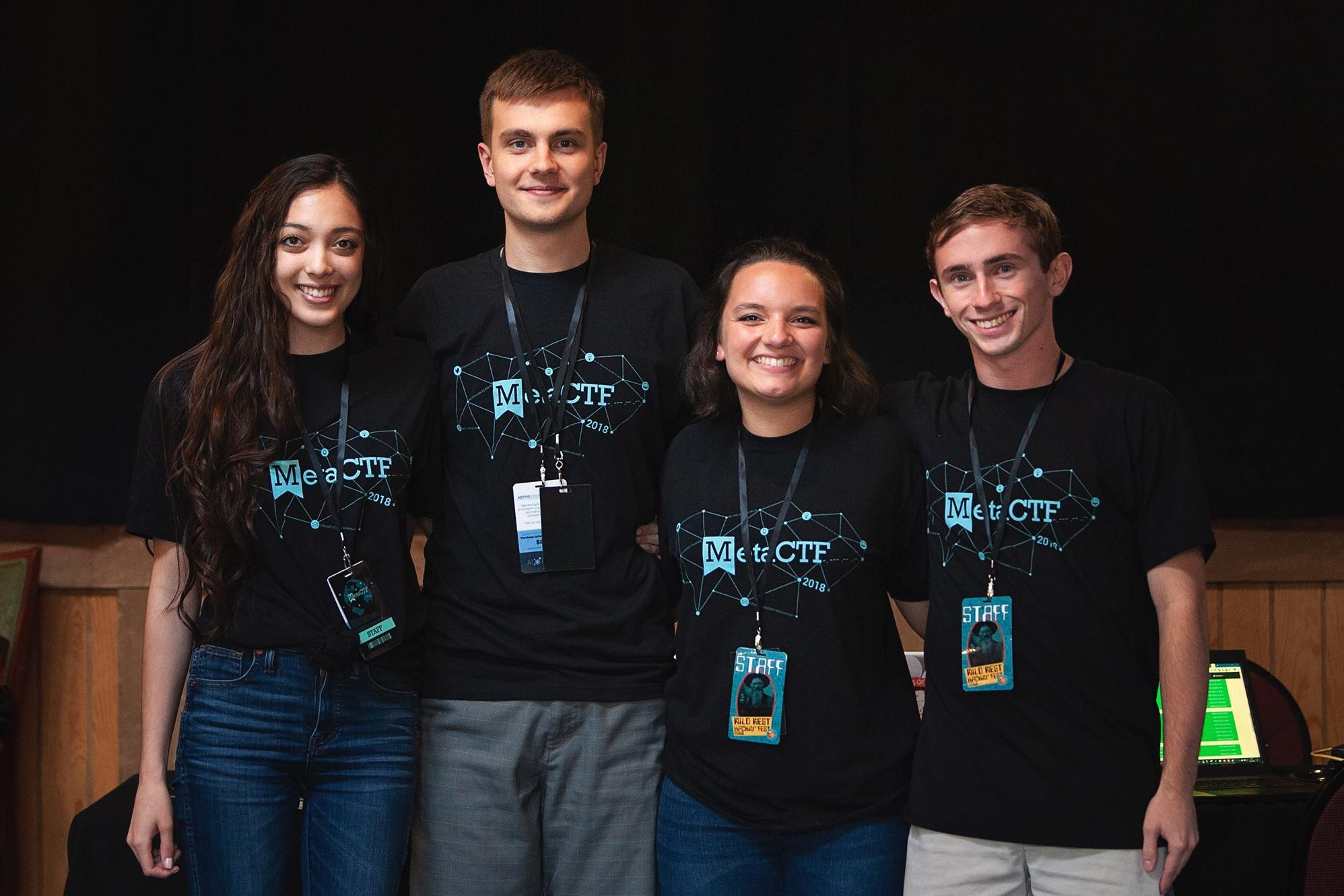 The MetaCTF – from left, Marina Sanusi, Roman Bohuk, Mariah Kenny and Jake Smith – is one of the six that will compete in Monday's Pike Award entrepreneurship competition.