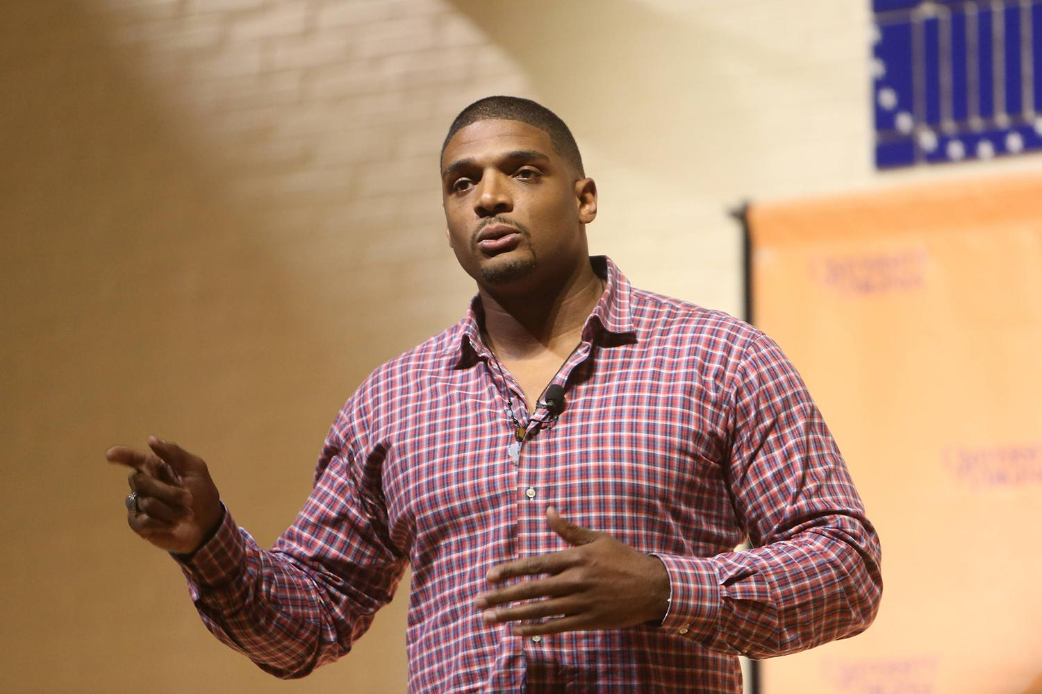 Former University of Missouri star Michael Sam was selected by the St. Louis Rams in the 2014 NFL Draft. (Photos by Richard Dizon, University Communications)