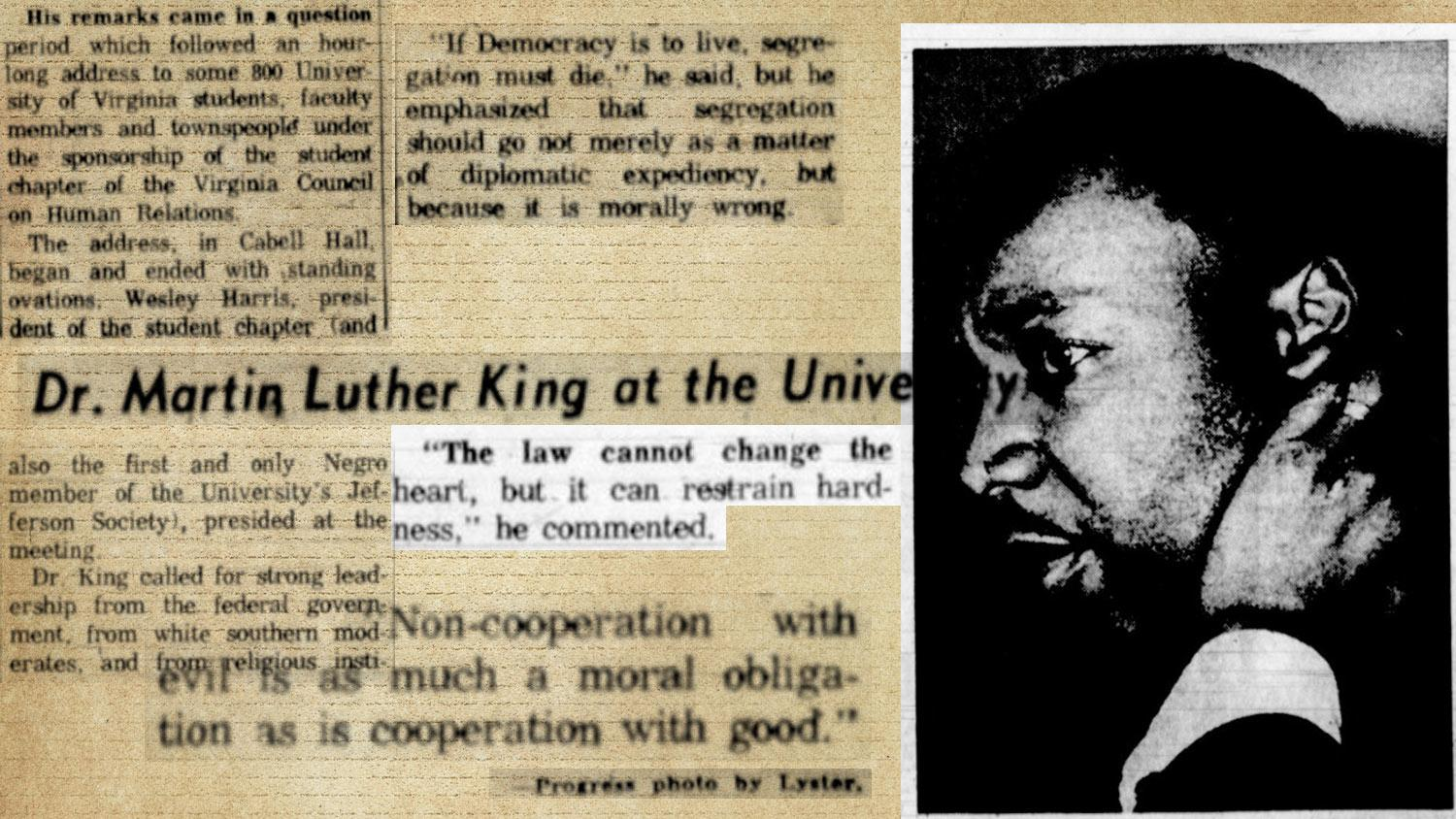 This is How the Rev. Martin Luther King Jr. Came to Speak at UVA in 1963