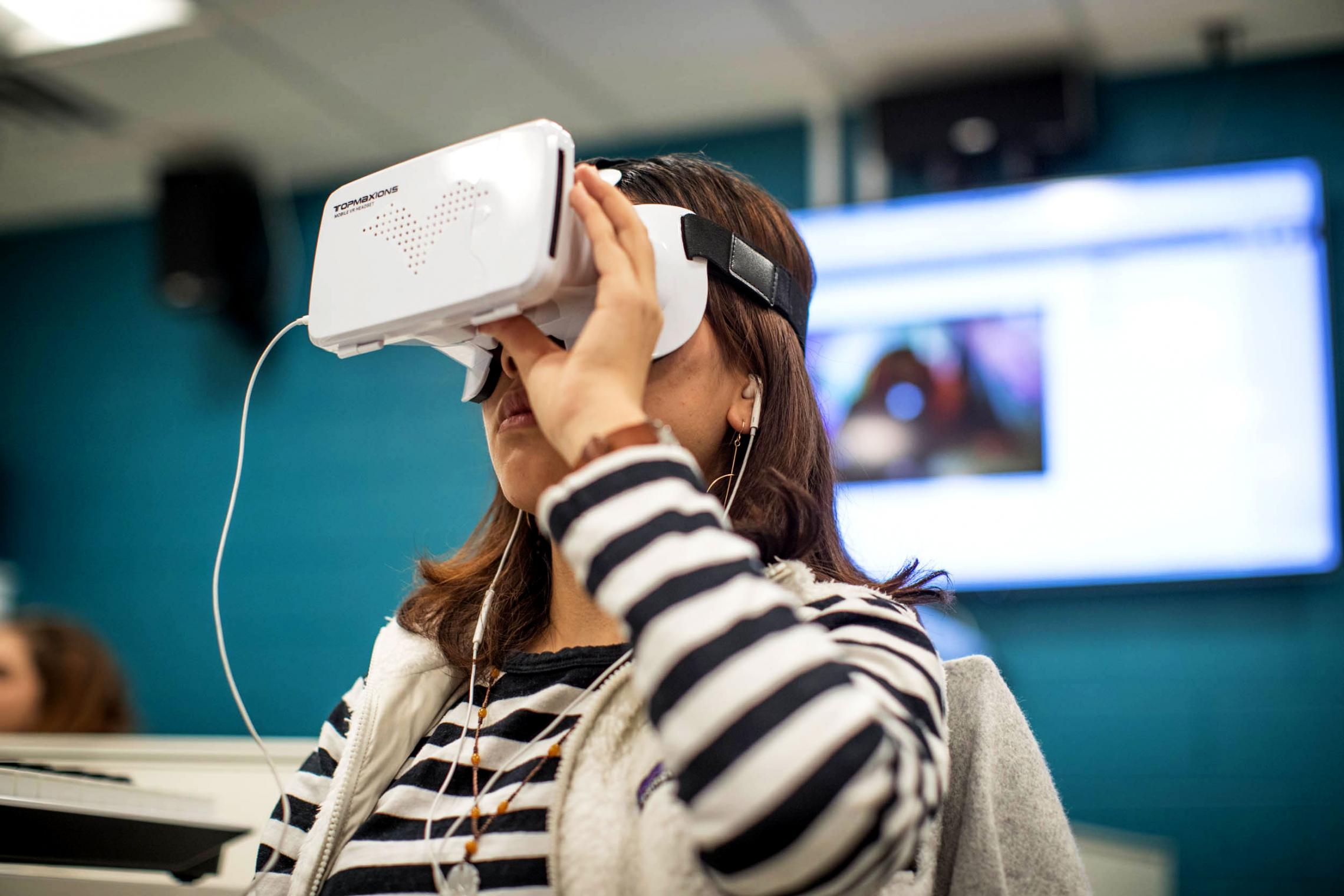 The students learned about virtual reality and 360-degree filming technology and made their own 360-degree films.