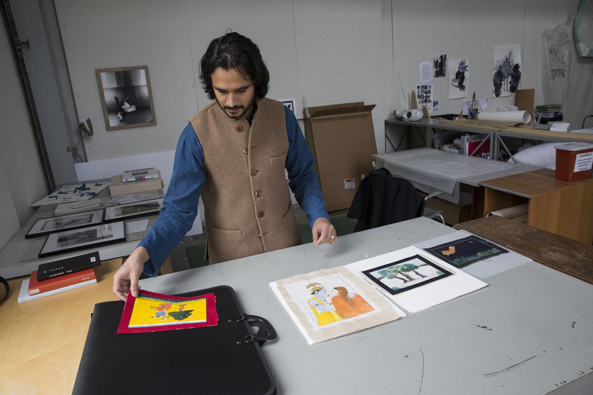 Art history graduate student Murad Mumtaz