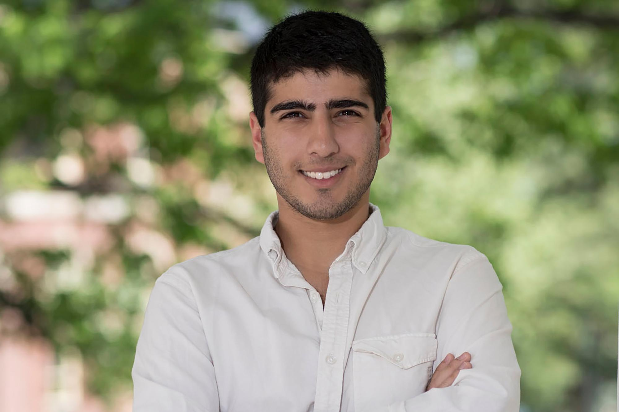 Daniel Naveed Tavakol will conduct research in Switzerland through a fellowship from the Whitaker International Program.