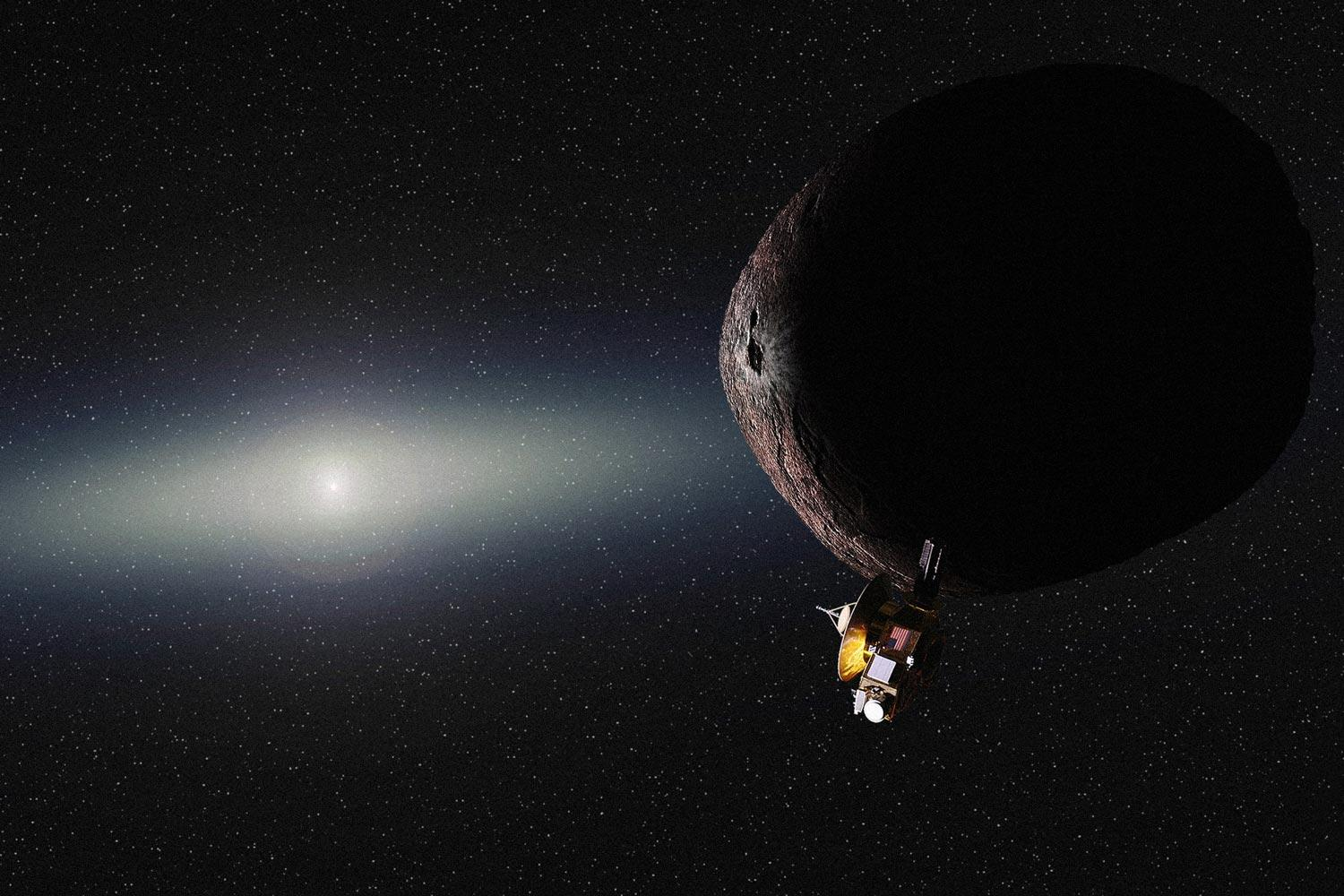 Artist's conception of 2014 MU69 during New Horizons' Jan. 1, 2019 flyby.