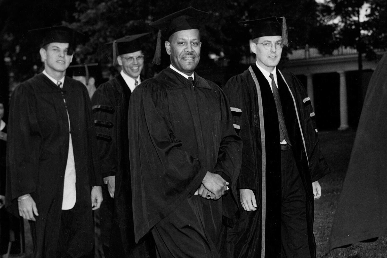 The late Walter F. Ridley earned a Ph.D. from the University's Curry School of Education in 1953, long before Office of African-American Affairs was established.