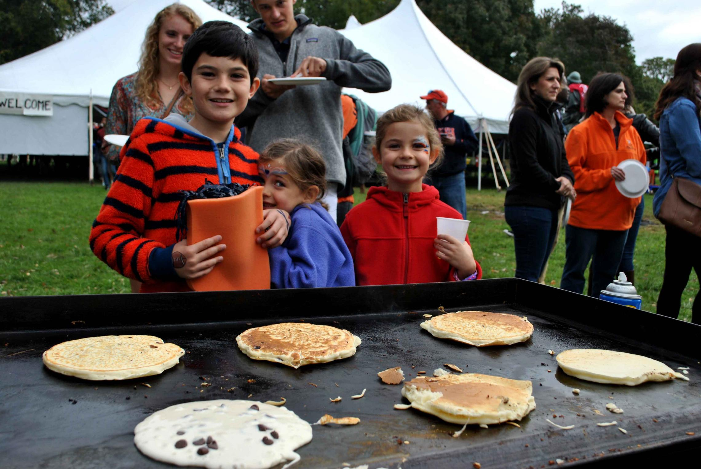 Students served more than 10,000 flapjacks during this year's event, and hope to raise more than last year's total of $58,000 for Parkinson's research.
