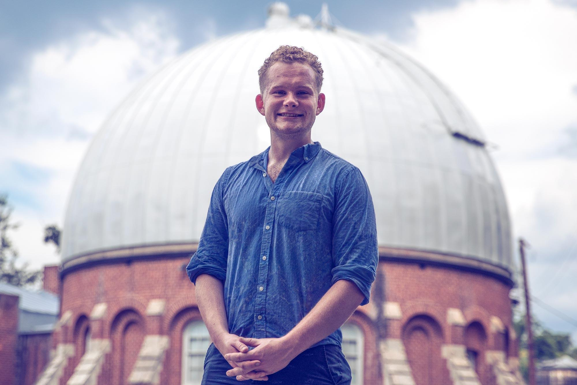 Astronomy and aerospace engineering student Paul Hughes traveled with other students and faculty to two continents to observe a target of interest to NASA.