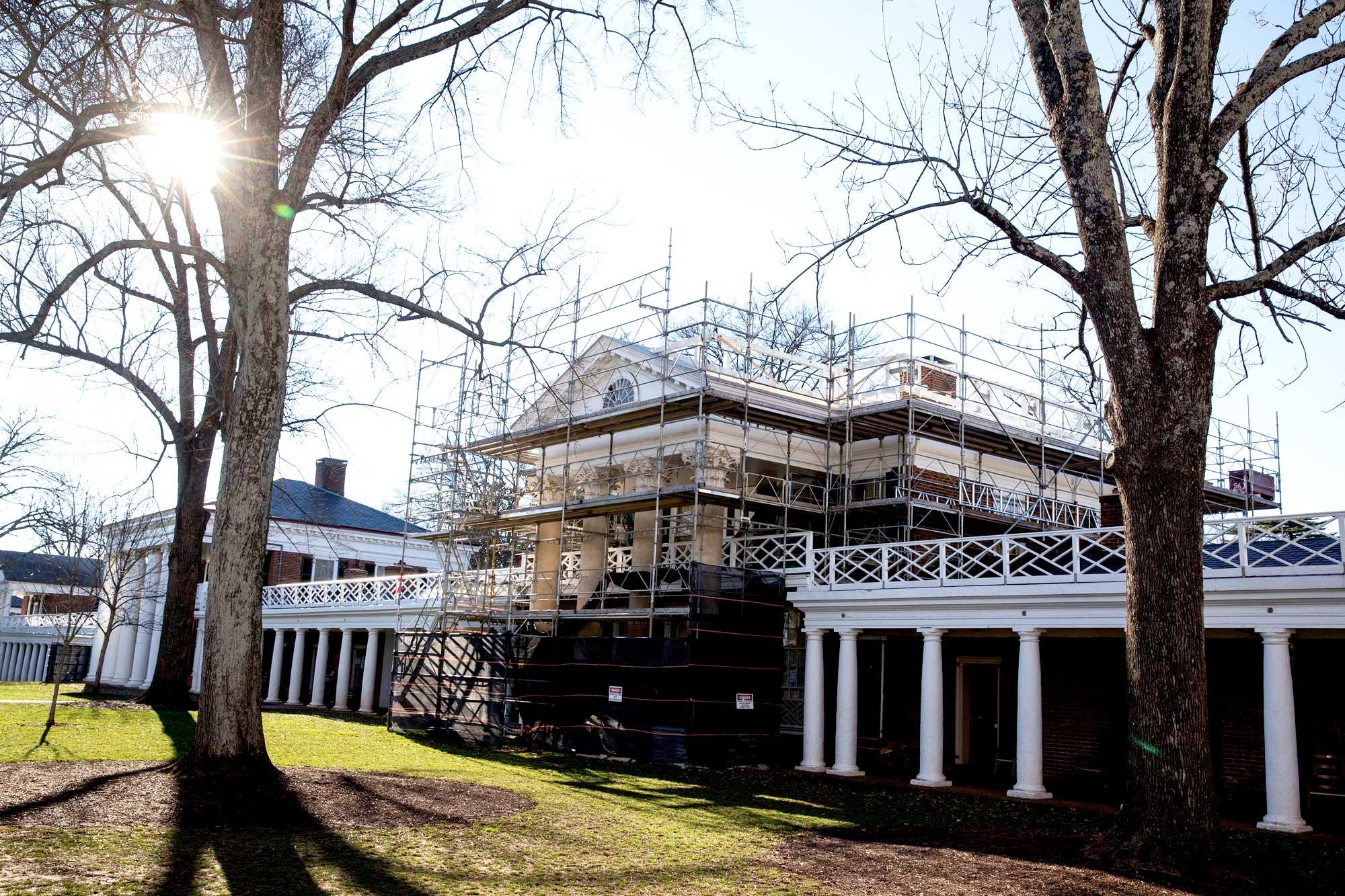 Pavilion III has never had a major addition, but it did have a subtraction: a balustrade along the roof that is now being restored.