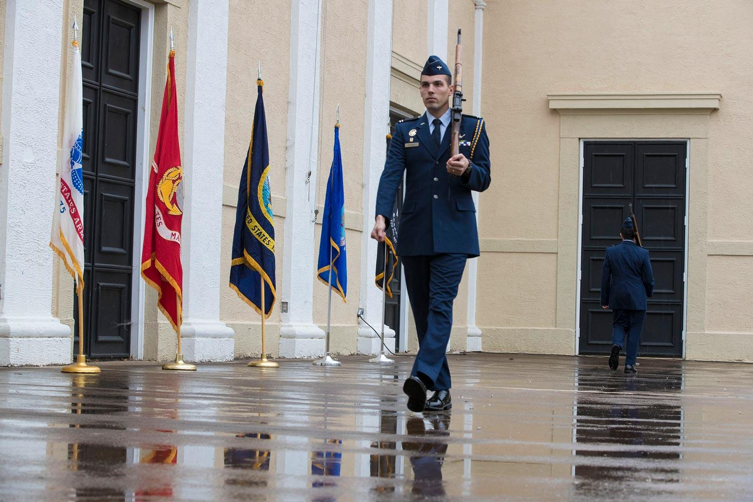UVA ROTC students will march on the McIntire Amphitheater stage for 24 hours beginning Monday in remembrance of those who did not come back from battle.