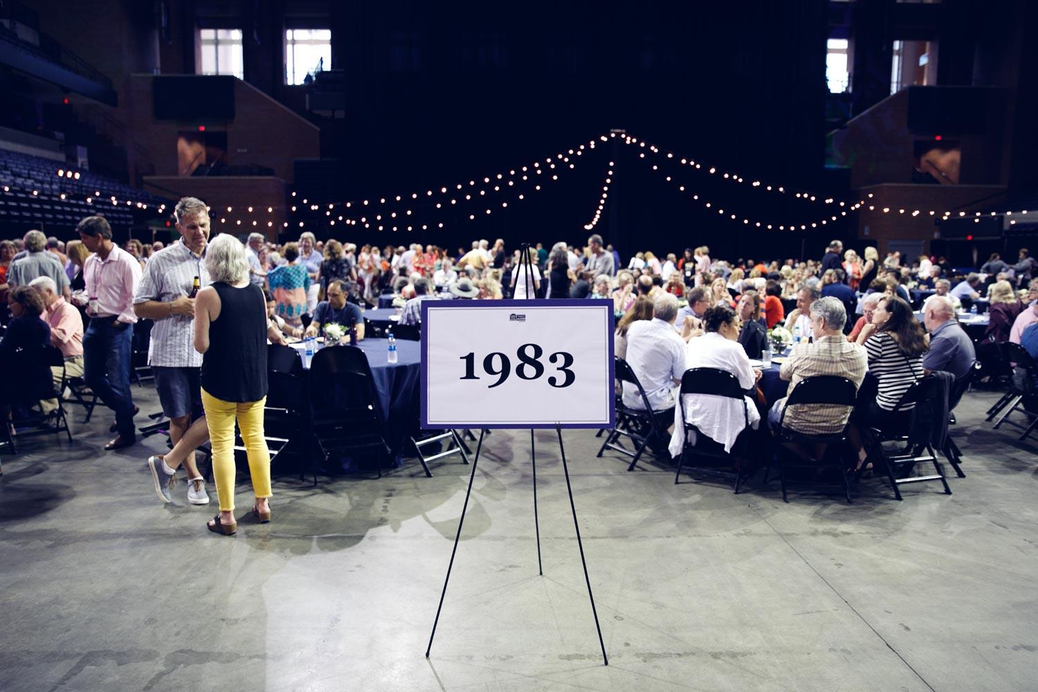 Members of the Class of 1983 celebrate their reunion last weekend, the first of two Reunions Weekends. The festivities resume Friday with more recent alumni.