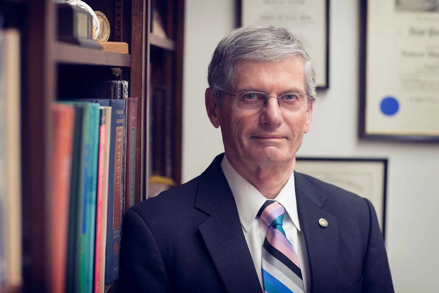 Dr. Robert Carey, a professor of medicine and dean emeritus of the School of Medicine, co-chaired the committee that recently developed sweeping new blood pressure guidelines.