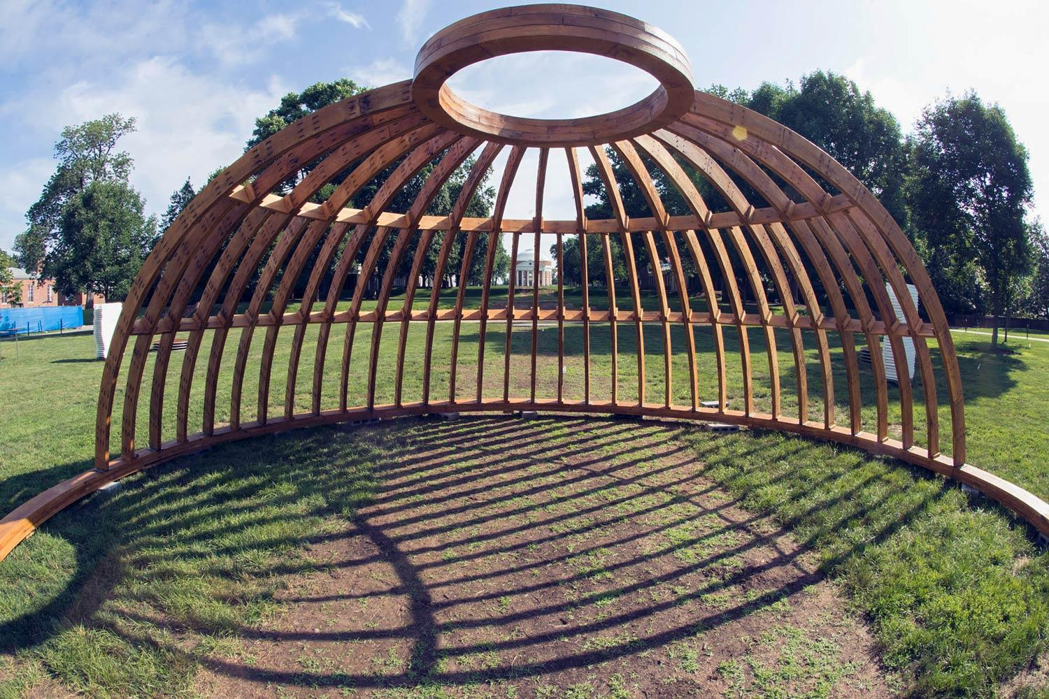 Visitors to the Lawn can now get a glimpse of what the original wooden dome would have looked like.