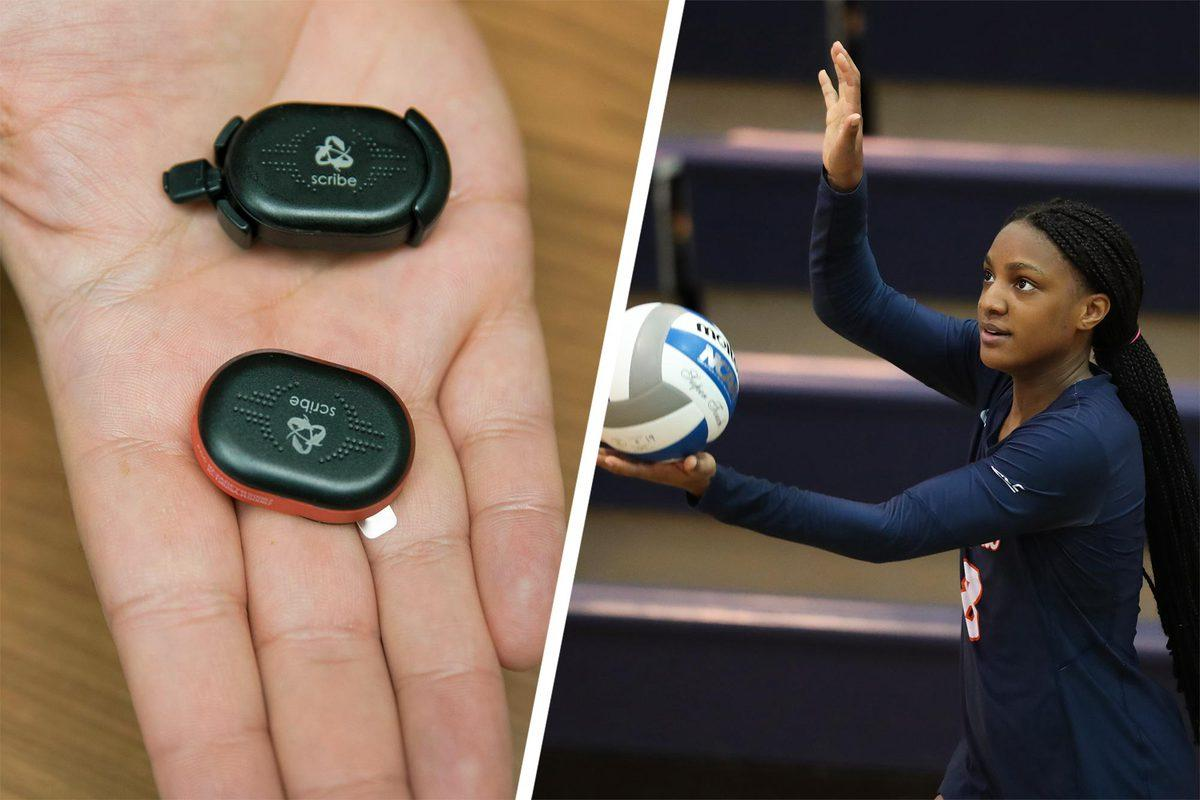 Hertel is examining data from sensors worn by Cavalier basketball, volleyball and track and field and cross country team members.