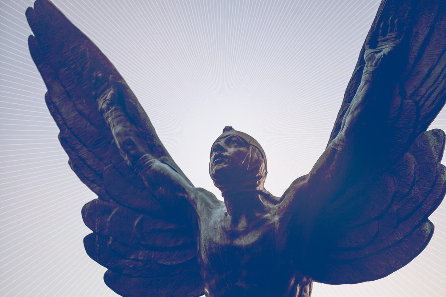 Winged Aviator statue