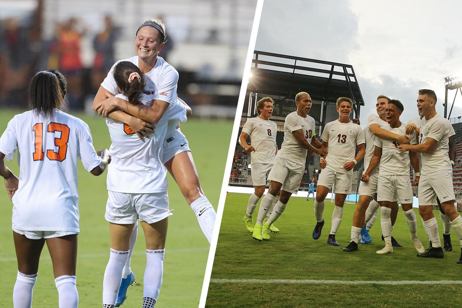 The Cavaliers men's and women's soccer teams are both having great seasons.