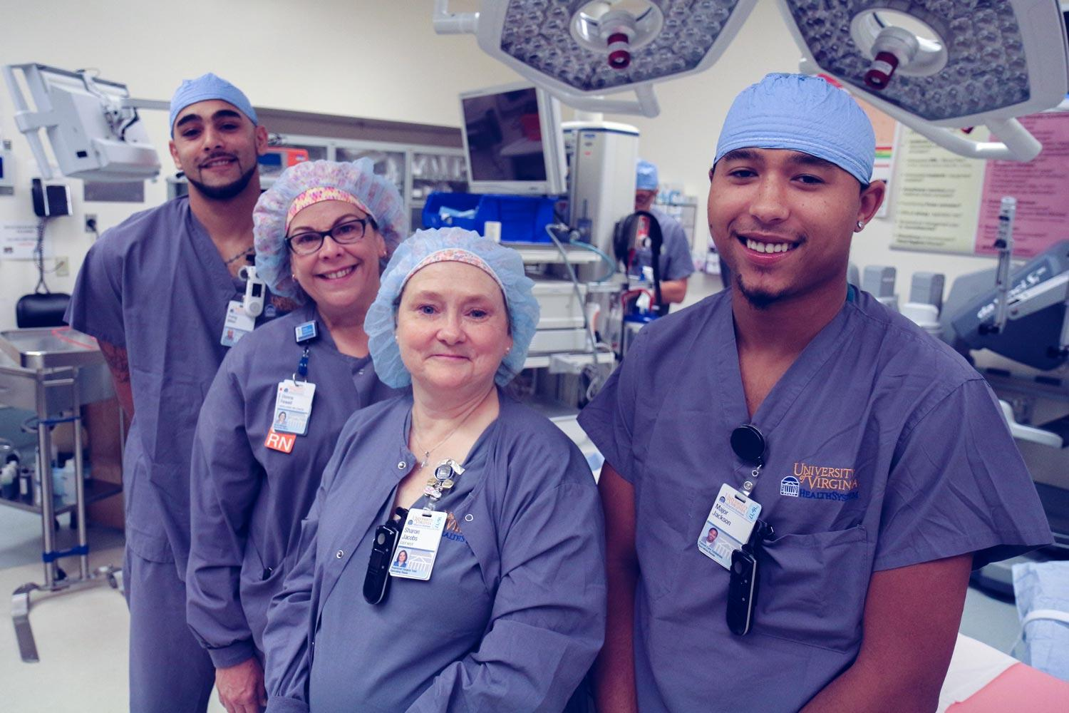 UVA conducts more than 30,000 surgeries each year. Teams like the one made up of Irving Miller, Donna Fewell, Sharon Jacobs and Major Jackson overhauled processes, halving the time it takes to prep rooms for surgeries.