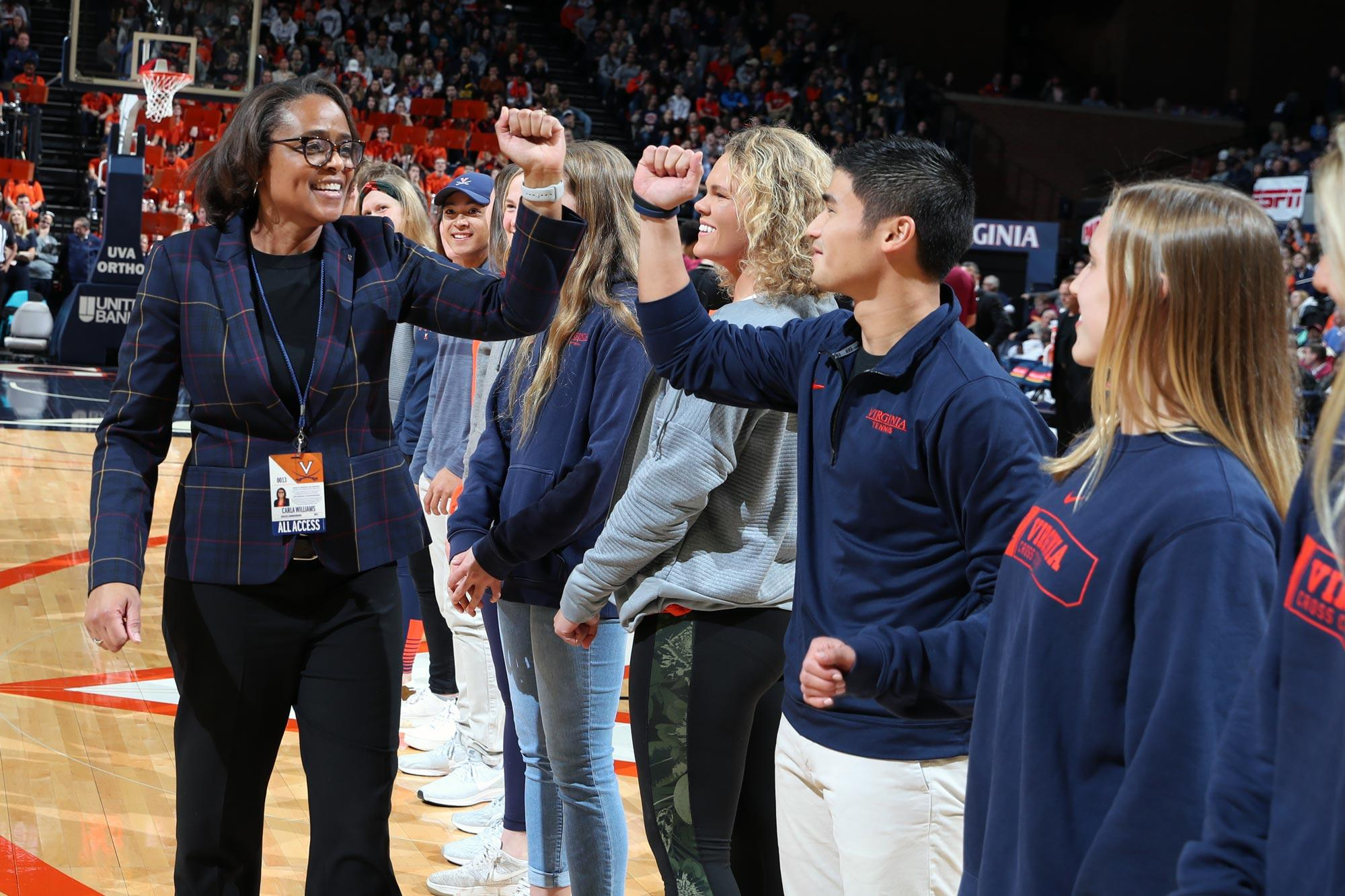 It's been a banner year in the classroom for UVA's student-athletes, who were honored Tuesday during the men's basketball victory over Florida State.