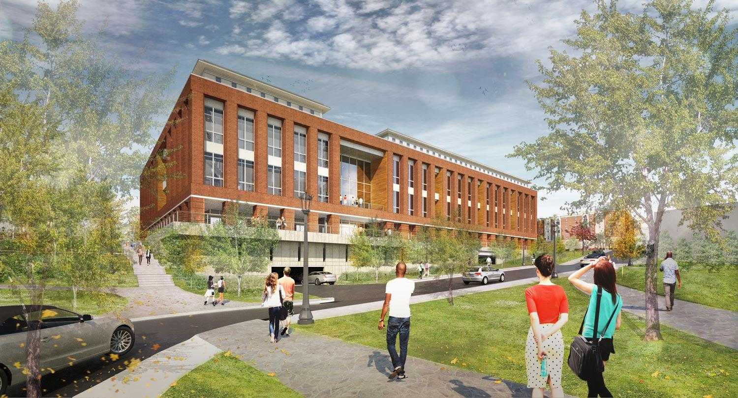 A rendering of UVA's new Student Health and Wellness Center, which will be located on Brandon Avenue.