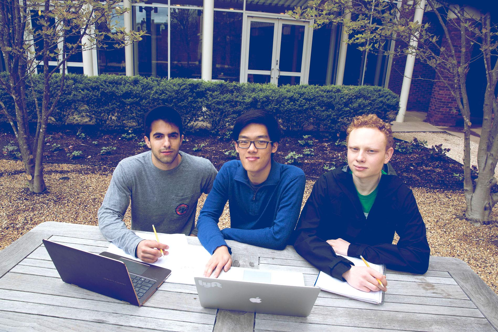 Kamran Pirasteh, left, James Wang and Ripley Carroll hope their startup, Tandem Medical, can dramatically change how doctors, nurses and technicians communicate.