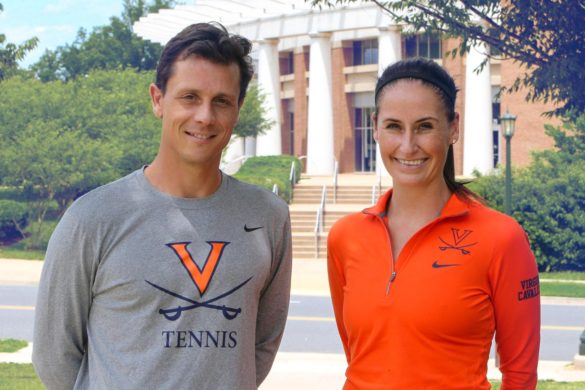 Andres Pedroso, left, and Sara O'Leary both take over Cavalier tennis programs that have been very successful, but they aren't content to maintain the status quo.