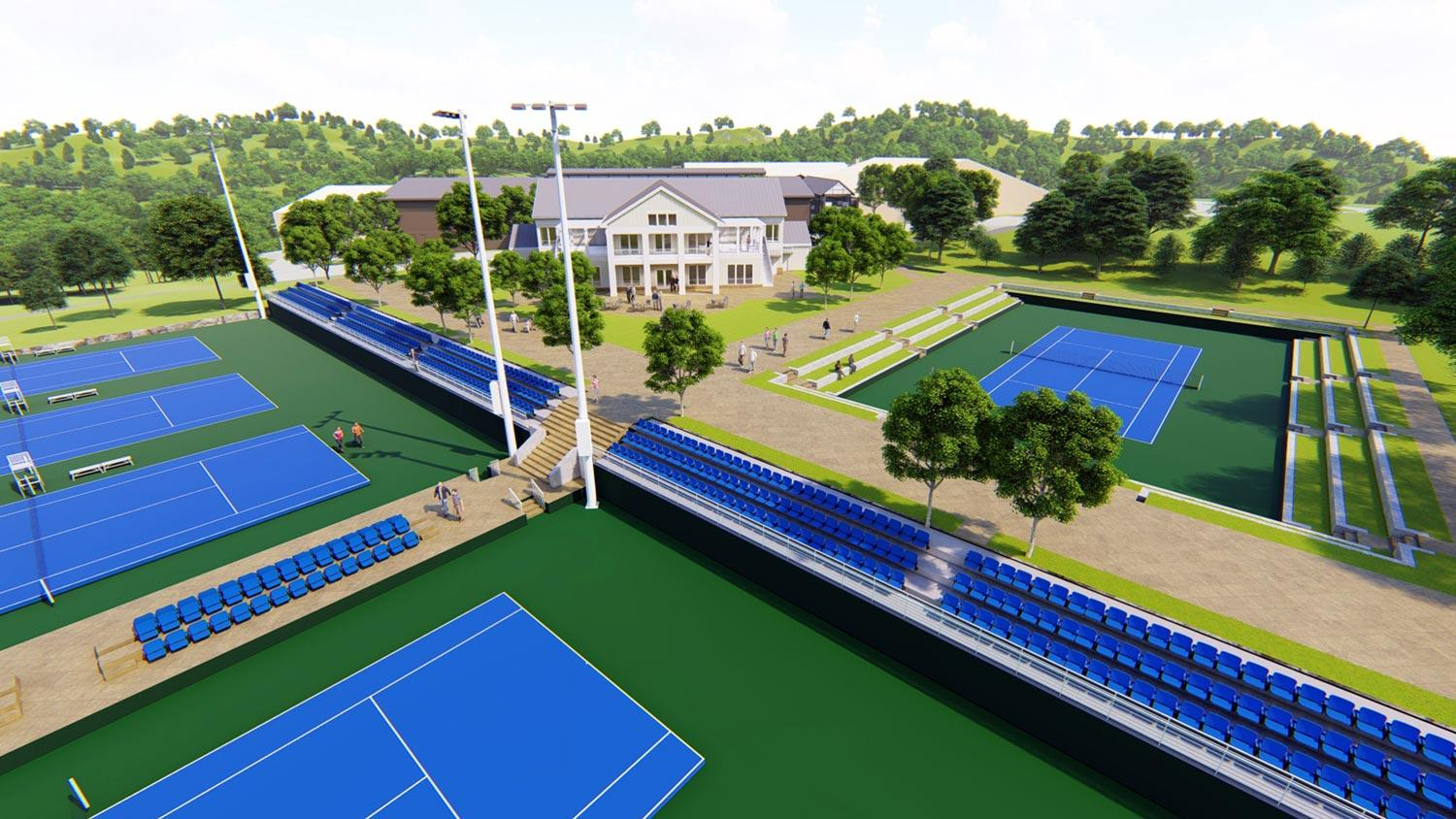The new center, located adjacent to the Boar's Head Sports Club, will enhance training opportunities, recruiting and competition for UVA Tennis.