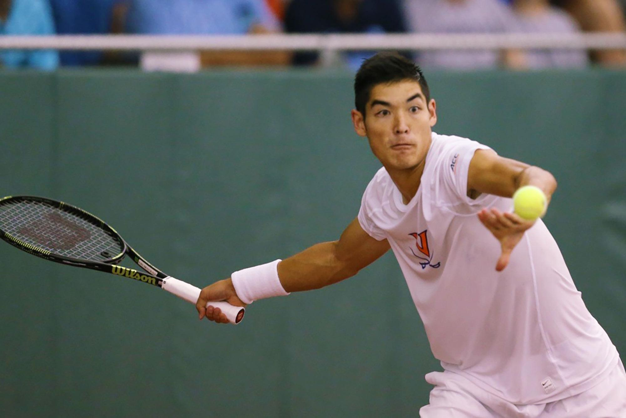 Fourth-year Thai-Son Kwiatkowski faced North Carolina freshman William Blumberg four times this season. Kwiatkowski's only victory came in Monday's NCAA men's singles championship.