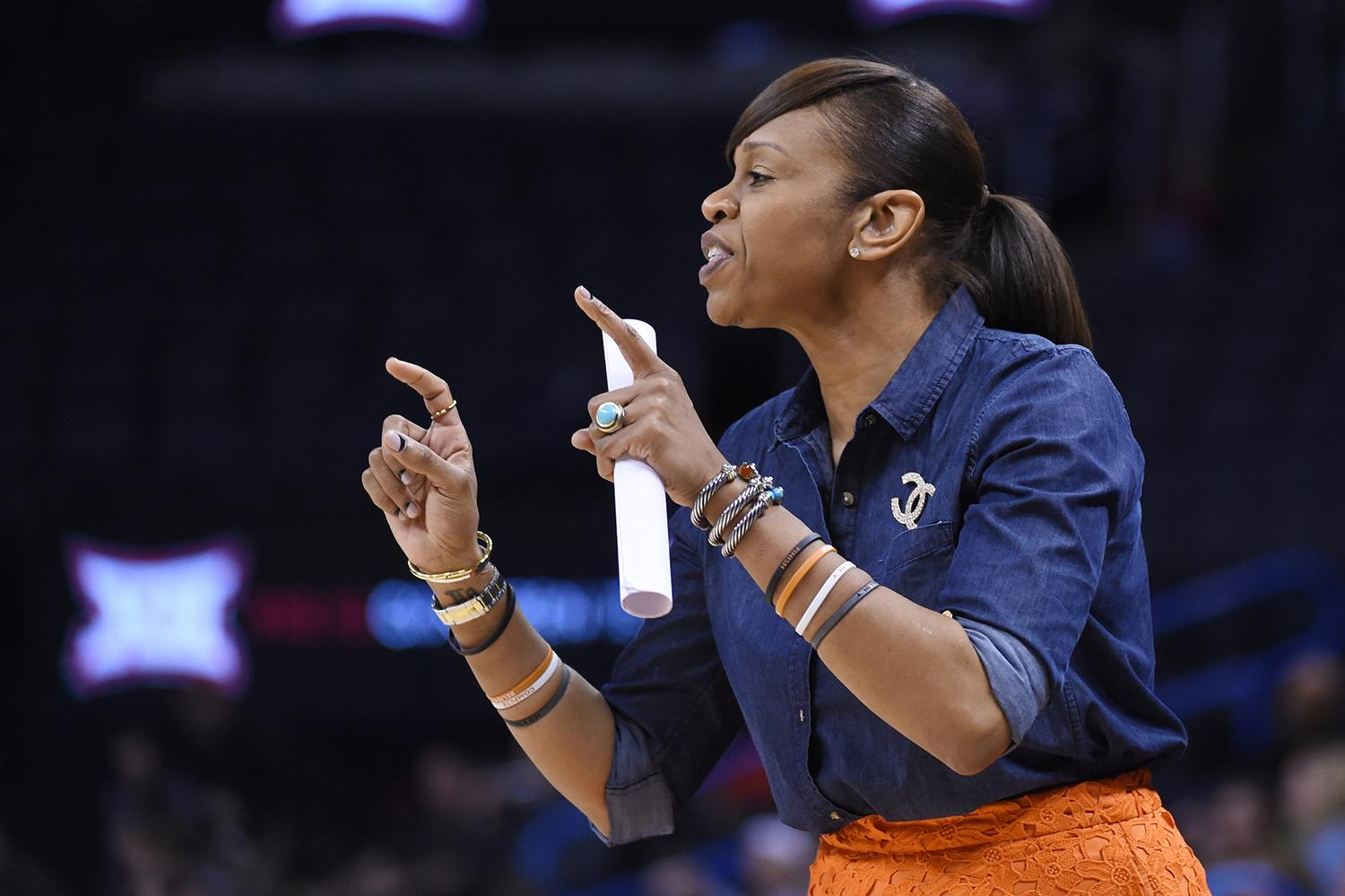 Tina Thompson spent the past three seasons on the staff of the University of Texas women's basketball team.