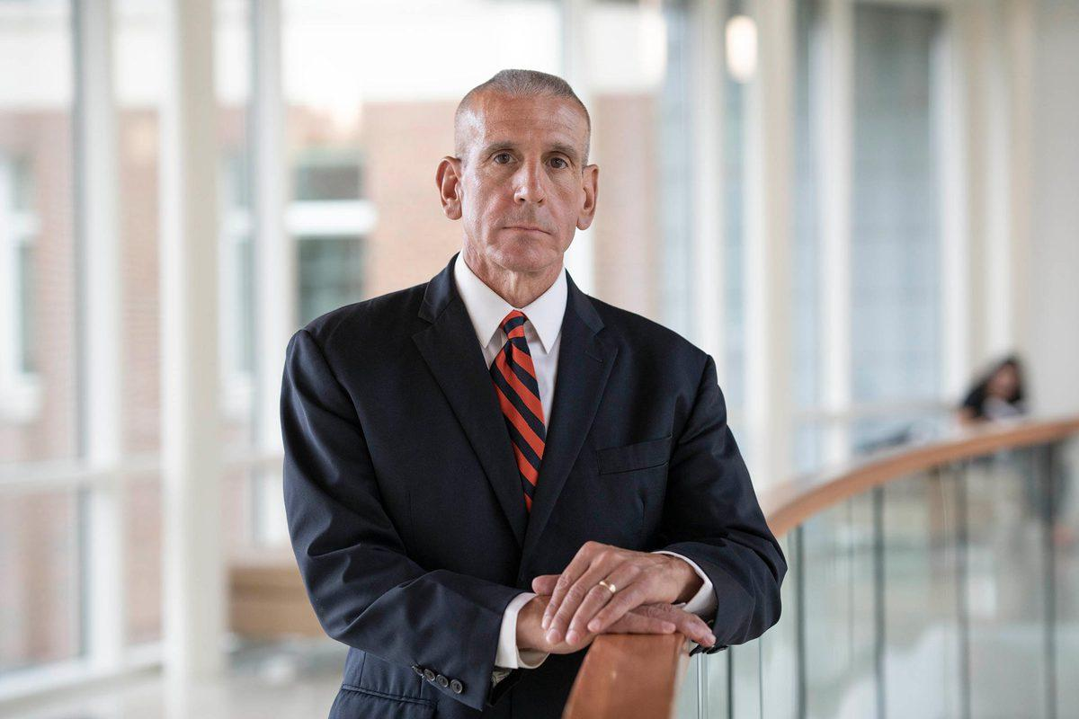 """Tim Longo described UVA as becoming """"a second home"""" since his retirement as Charlottesville's police chief in 2016. (Photo by Sanjay Suchak, University Communications)"""