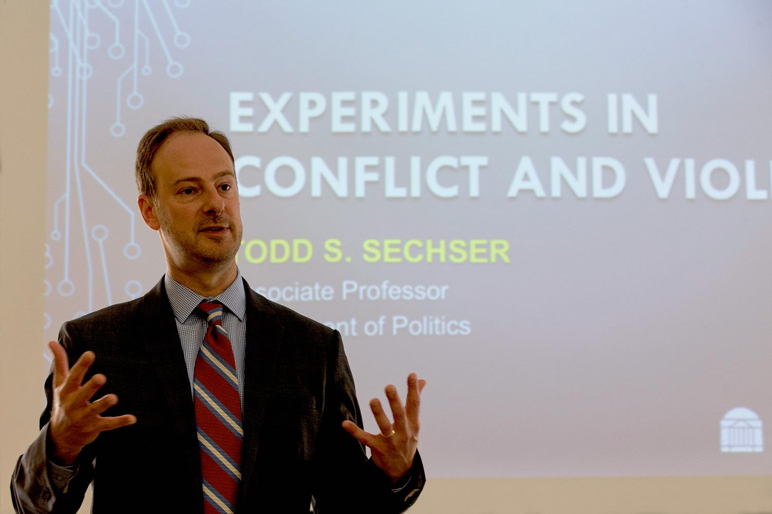 Participants in the Department of Politics Experimental Lab provide researchers with valuable data about whether or not exposure to violence affects aggression.