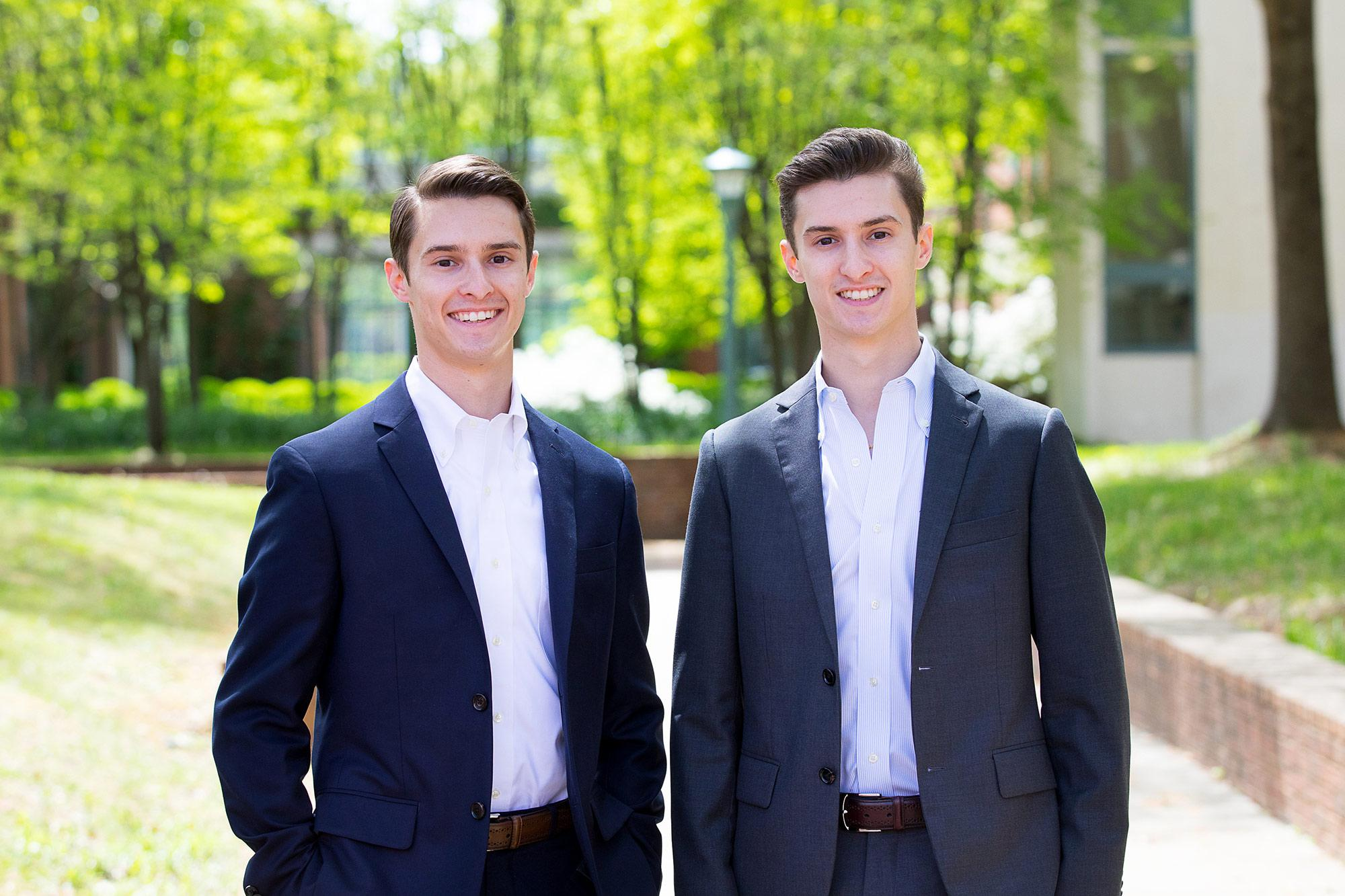 Brothers Zachary and Alexander Nemtzow are headed for the same law firm after graduation. They will both work as patent attorneys in Boston.
