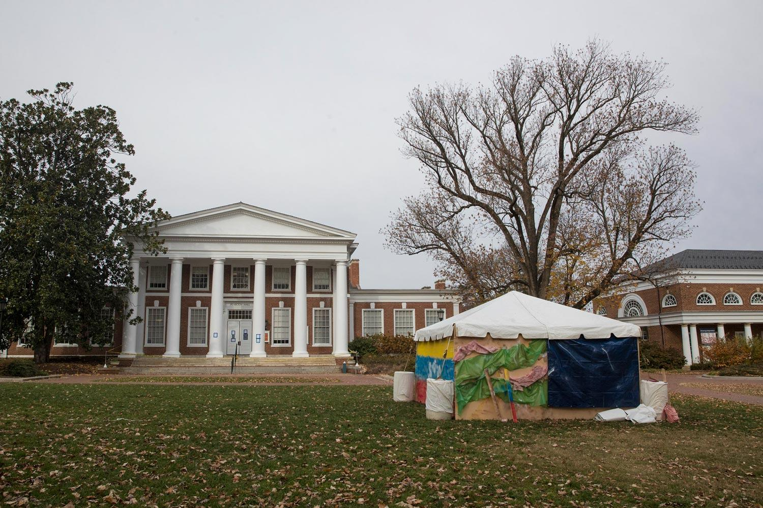 A group of UVA students have spent the semester planning and building this exhibit, which will be on display through Wednesday.
