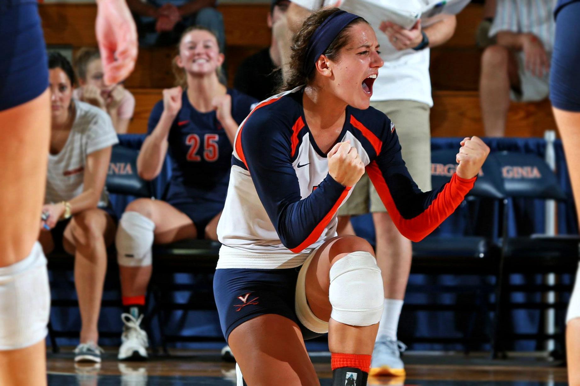 "Lexi Riccolo ""has been unbelievable as a leader,"" says UVA head volleyball coach Dennis Hohenshelt."