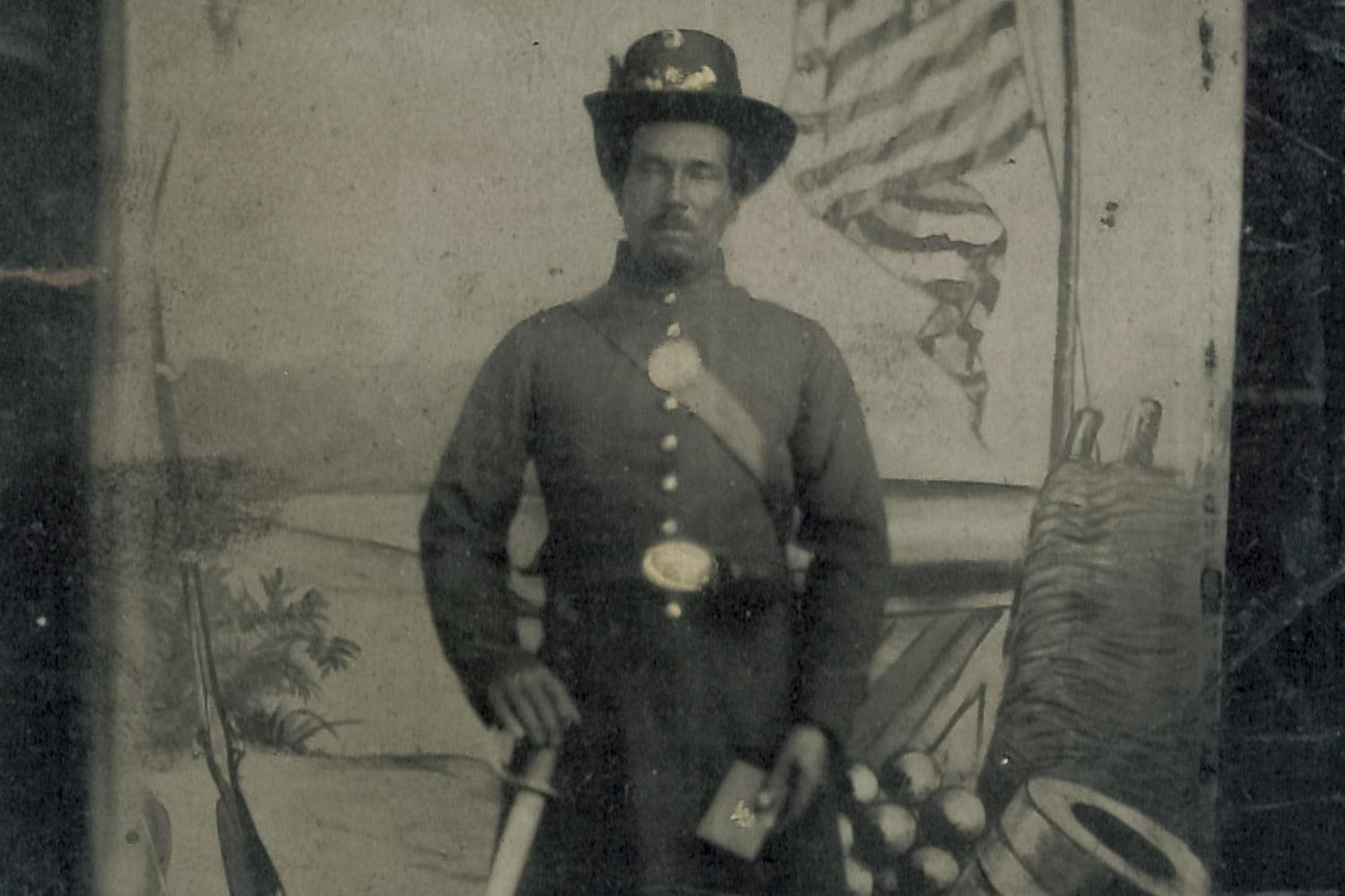 Willis Carter or Calhoun, 42, enlisted at the Benton Barracks in Missouri and was a cook in the regional field hospital.